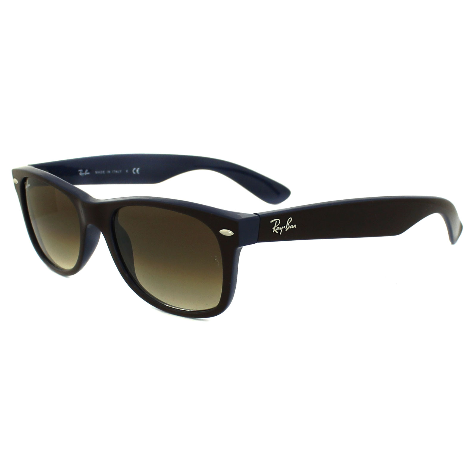 ray ban new wayfarer sunglasses top brown on blue  ray ban sunglasses new wayfarer 2132 874/51 top brown blue light brown gradient