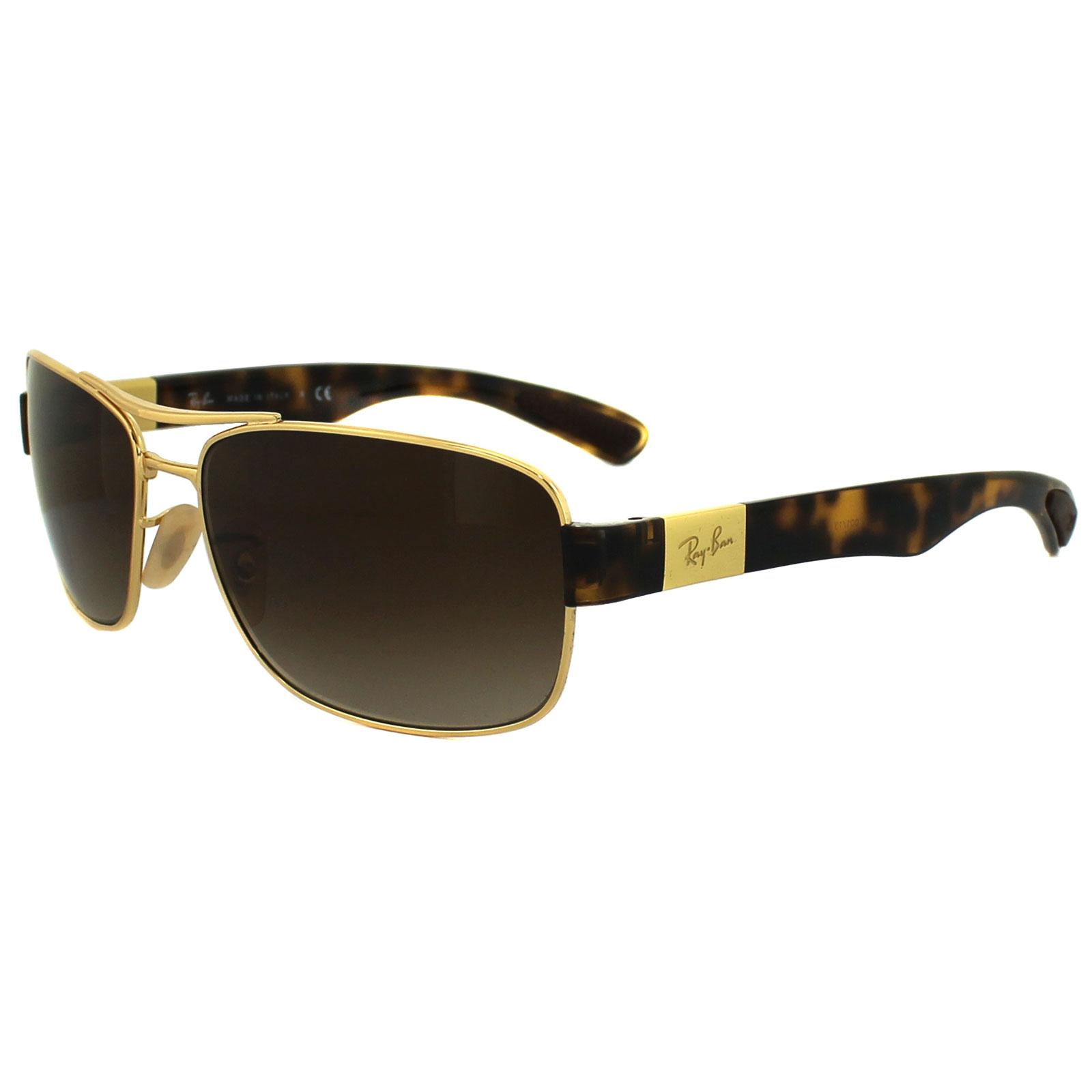 ray ban sunglasses quicker  ray ban sunglasses 3522 001/13 gold brown gradient
