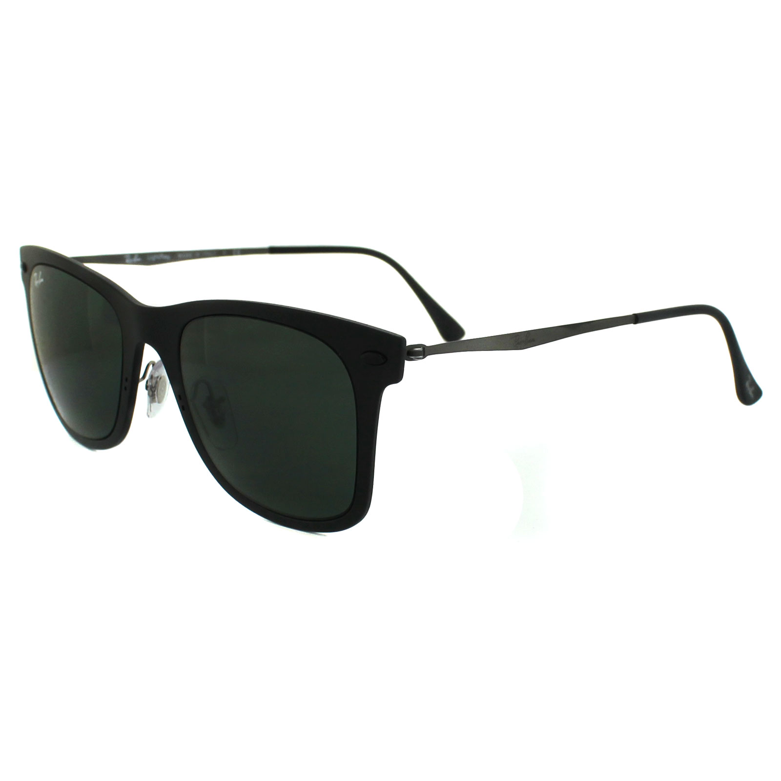 Black Ray Ban Sunglasses  ray ban sunglasses wayfarer light ray 4210 601s71 matt black green