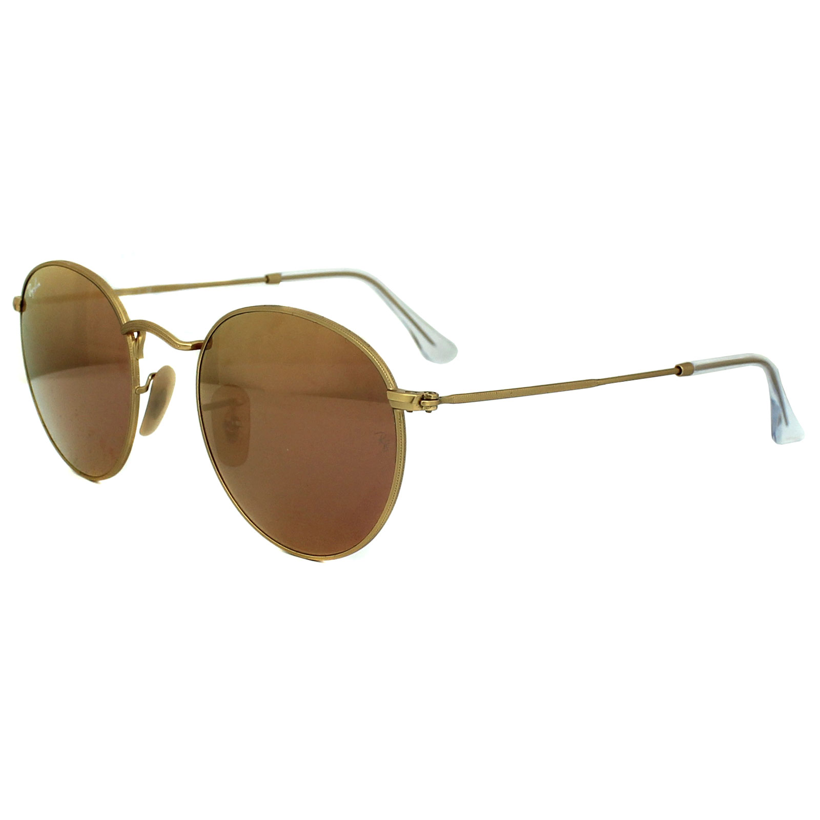 ray ban sunglasses round metal 3447 112 z2 gold copper flash mirror ebay. Black Bedroom Furniture Sets. Home Design Ideas