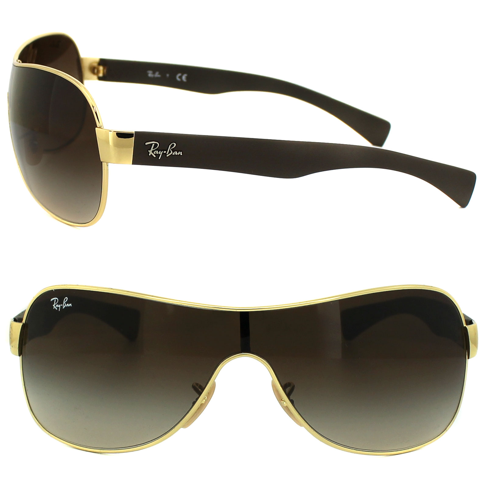 ray ban sunglasses 3471 001 13 gold brown gradient. Black Bedroom Furniture Sets. Home Design Ideas