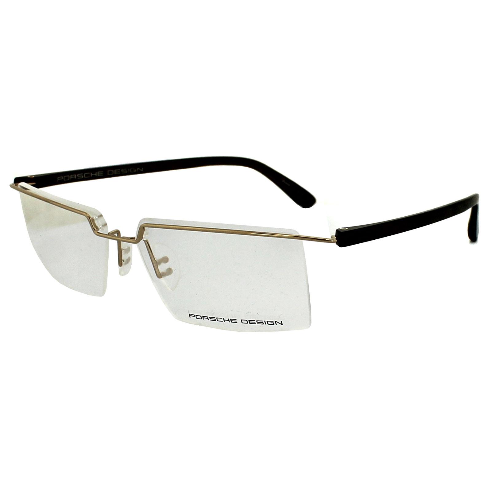 Porsche Design Glasses Frames P8227 B Gold & Dark Brown eBay