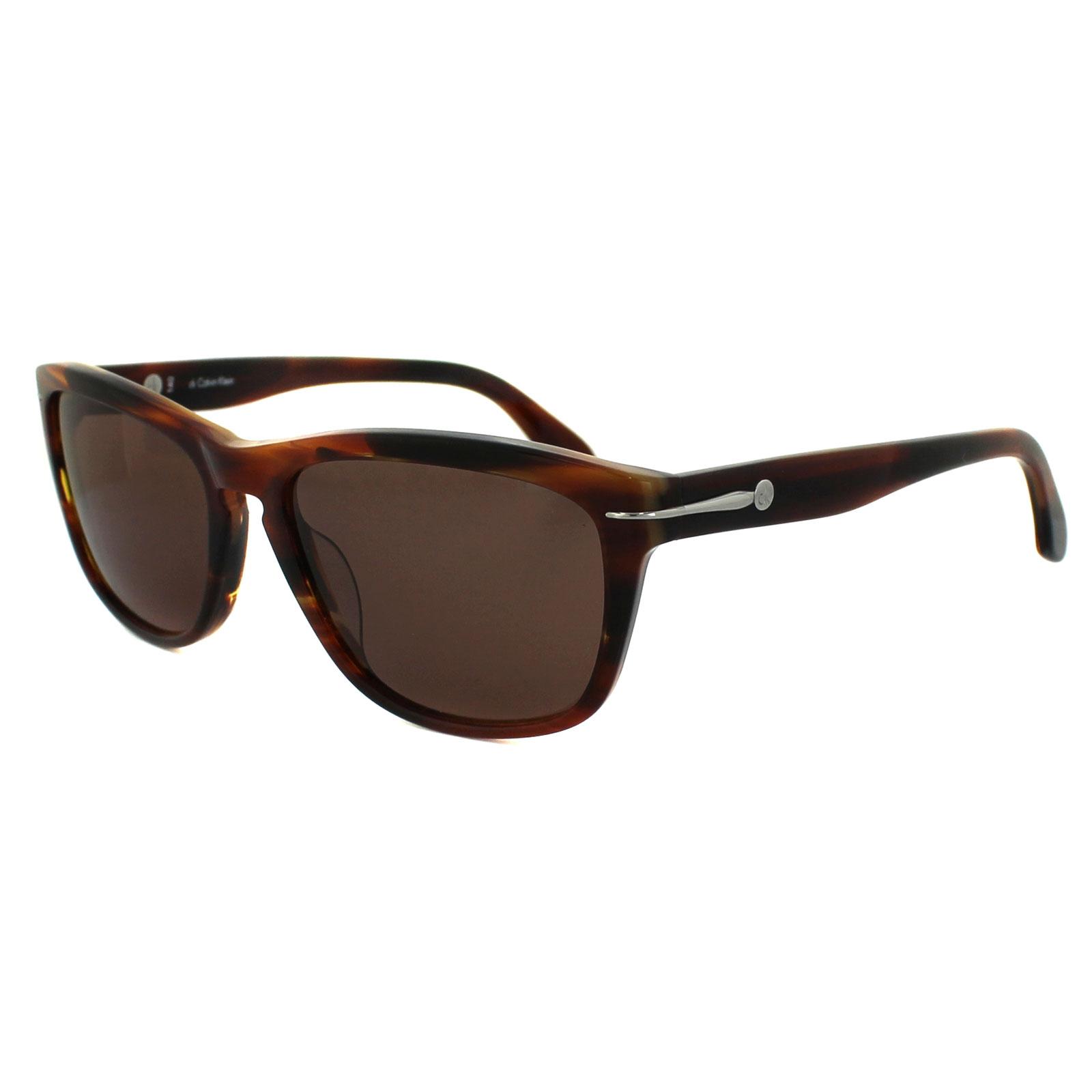 Calvin Klein Sunglasses 4218 021 Havana Brown | eBay