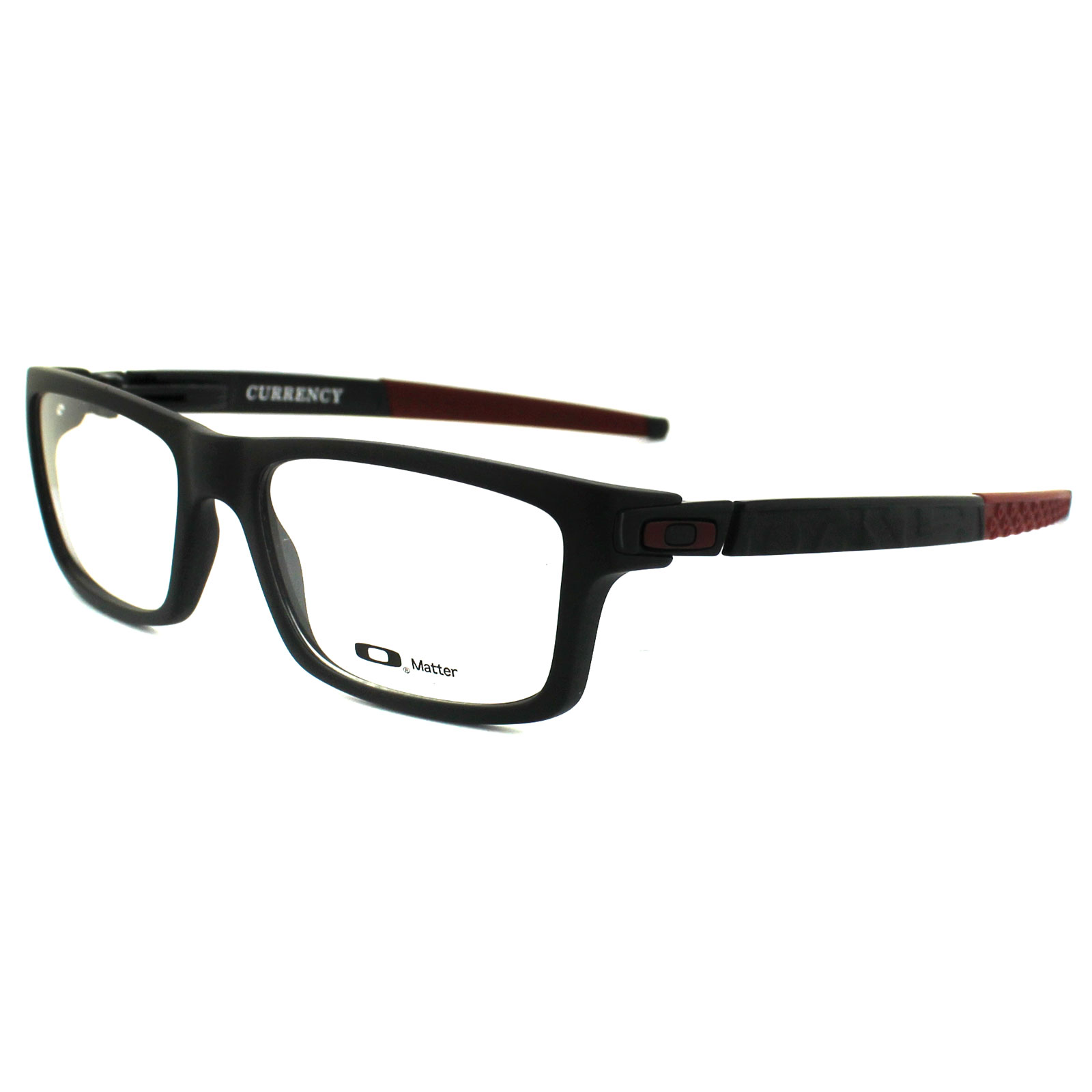 Big Frame Oakley Glasses : Oakley Glasses Frames Currency 8026-12 Satin Black/Red ...