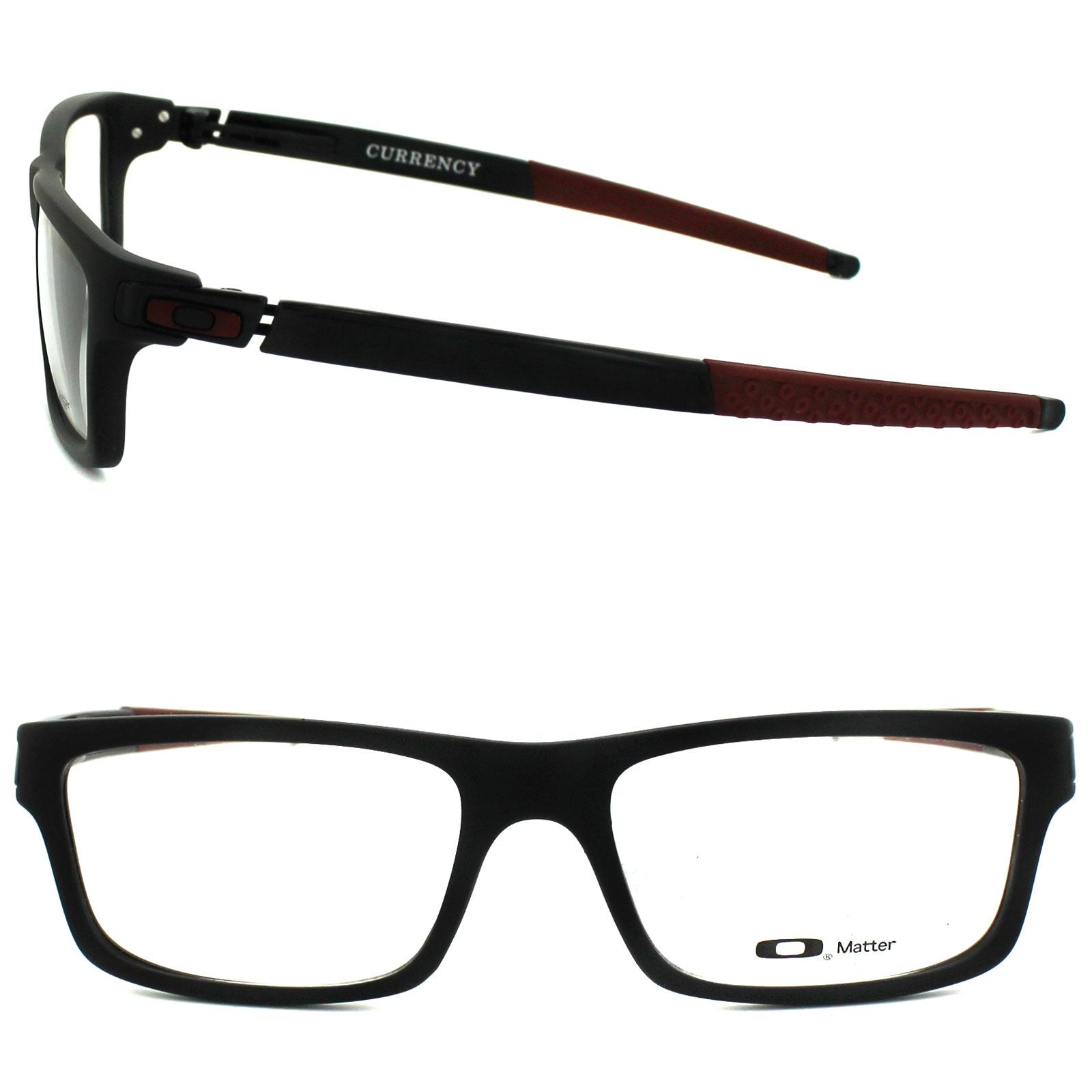 Oakley Red Frame Glasses : Oakley Glasses Frames Currency 8026-12 Satin Black/Red ...