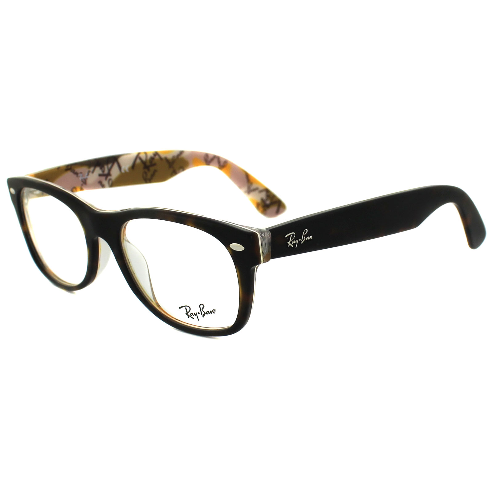 sentinel ray ban glasses frames 5184 5409 top tortoise on texture camouflage 52mm