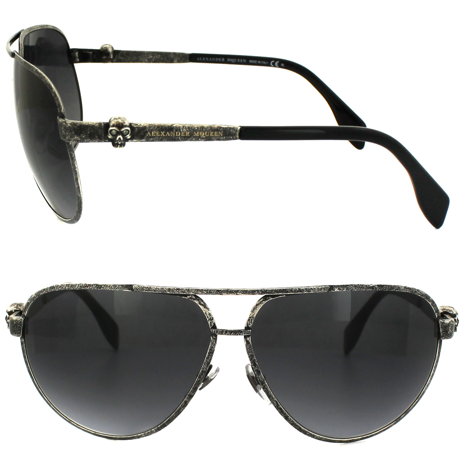 Alexander Mcqueen Sunglasses  alexander mcqueen sunglasses 4156 s obr hd oxidized ruthenium grey