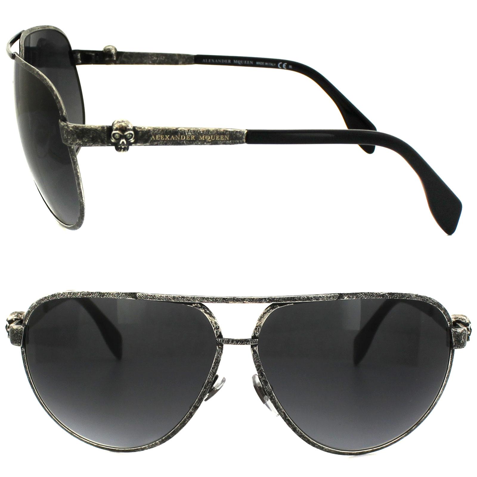 Alexander Mcqueen Sunglasses  alexander mcqueen sunglasses 4156 s obr hd oxidized ruthenium grey