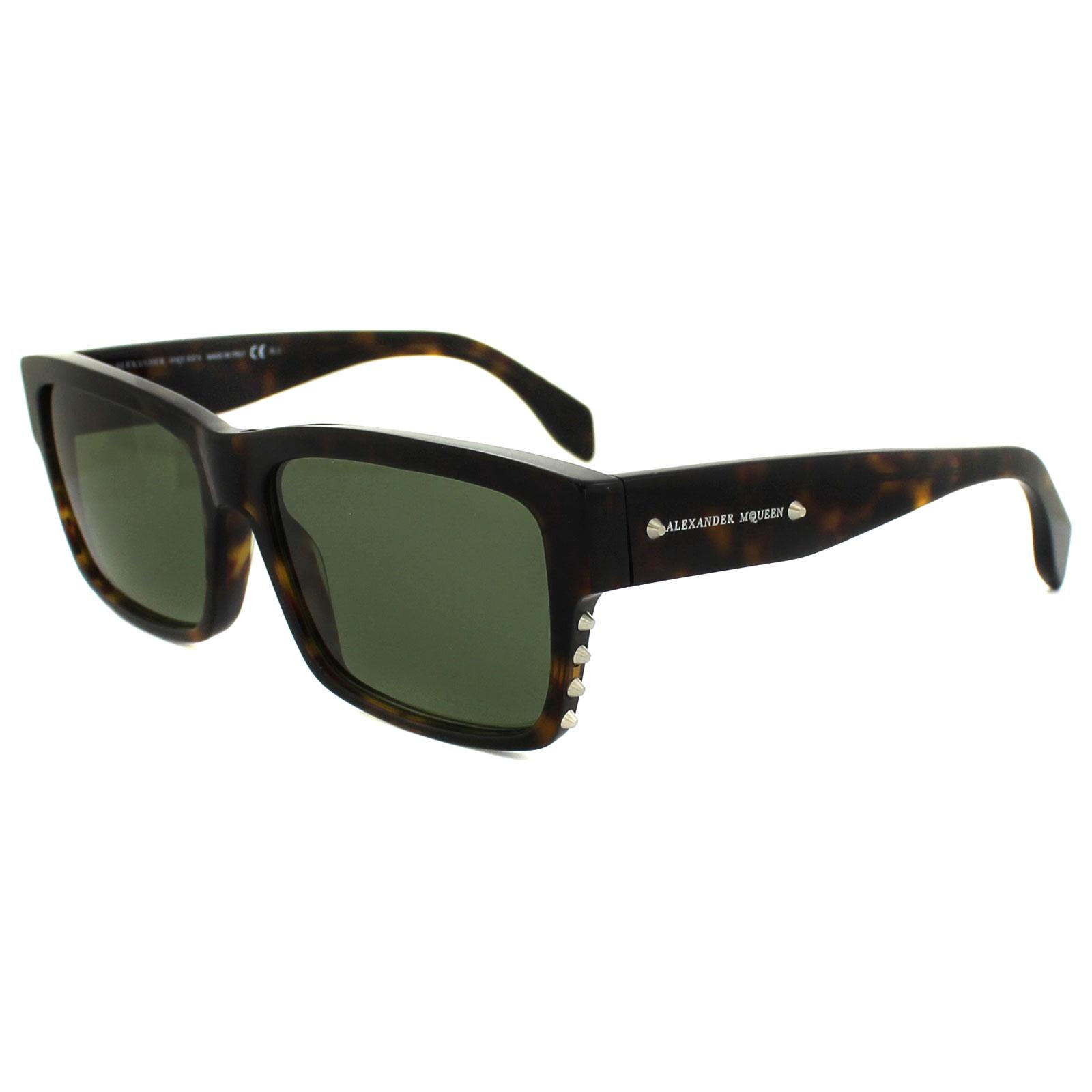 Mcqueen Sunglasses  alexander mcqueen sunglasses 4258 s 086 dj dark havana green ebay