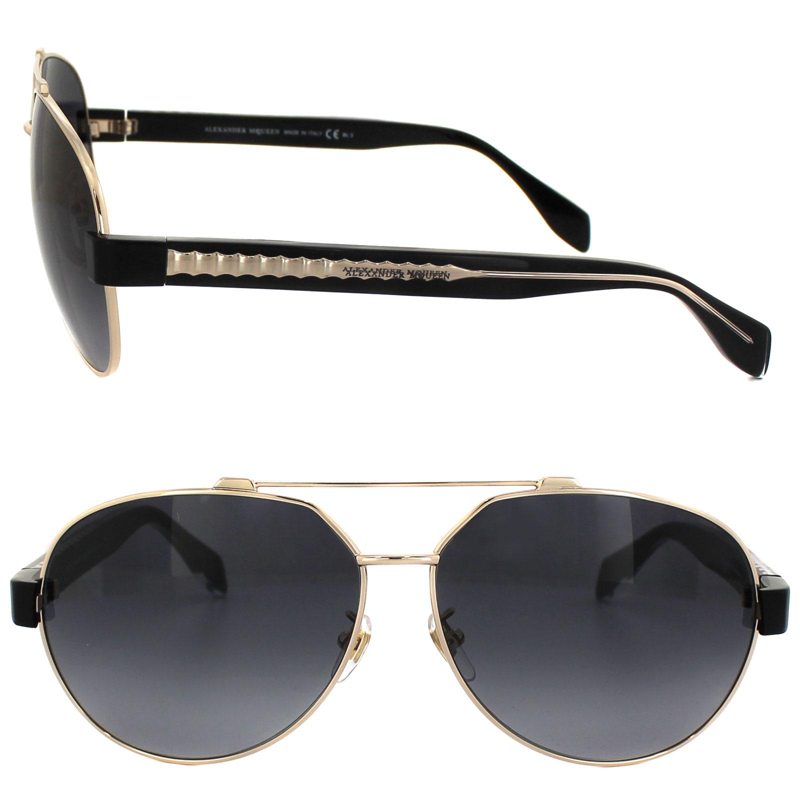 Mcqueen Sunglasses  alexander mcqueen sunglasses 4264 fs p6l hd gold black grey