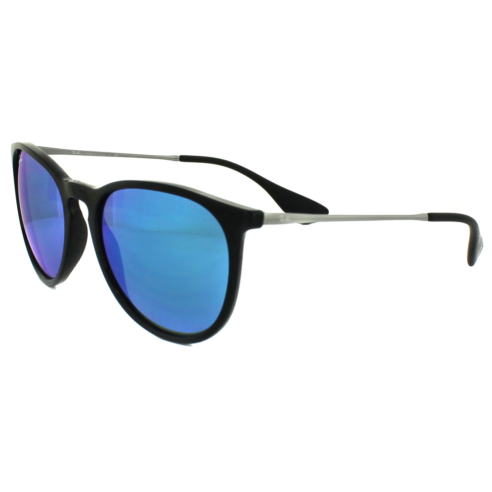 replica ray ban sunglasses australia  ray ban sunglasses erika 4171 601/55 black & gunmetal blue mirror