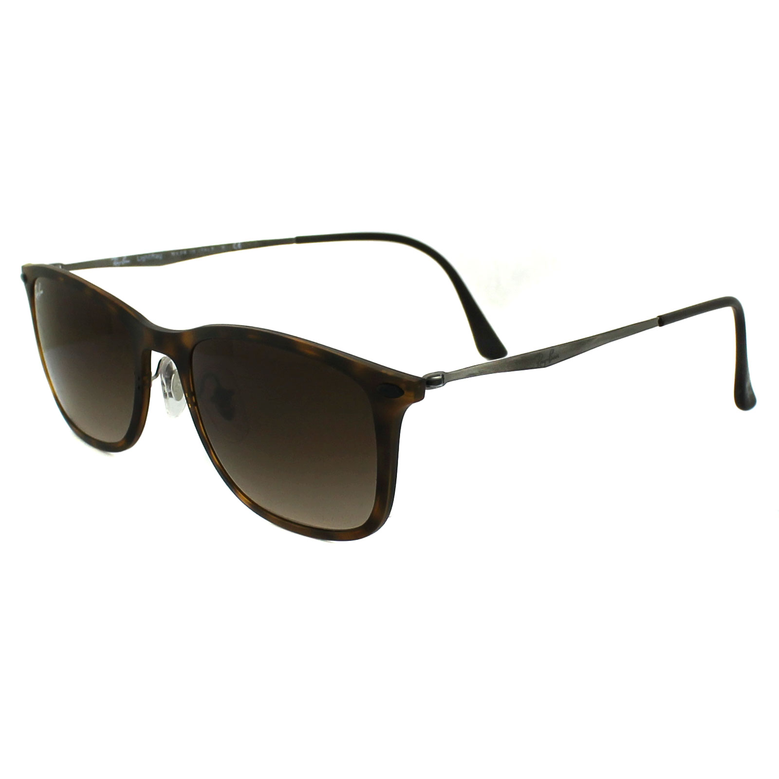 Ray ban sunglasses gradient - Sentinel Ray Ban Sunglasses New Wayfarer Light Ray 4225 894 13 Tortoise Brown Gradient