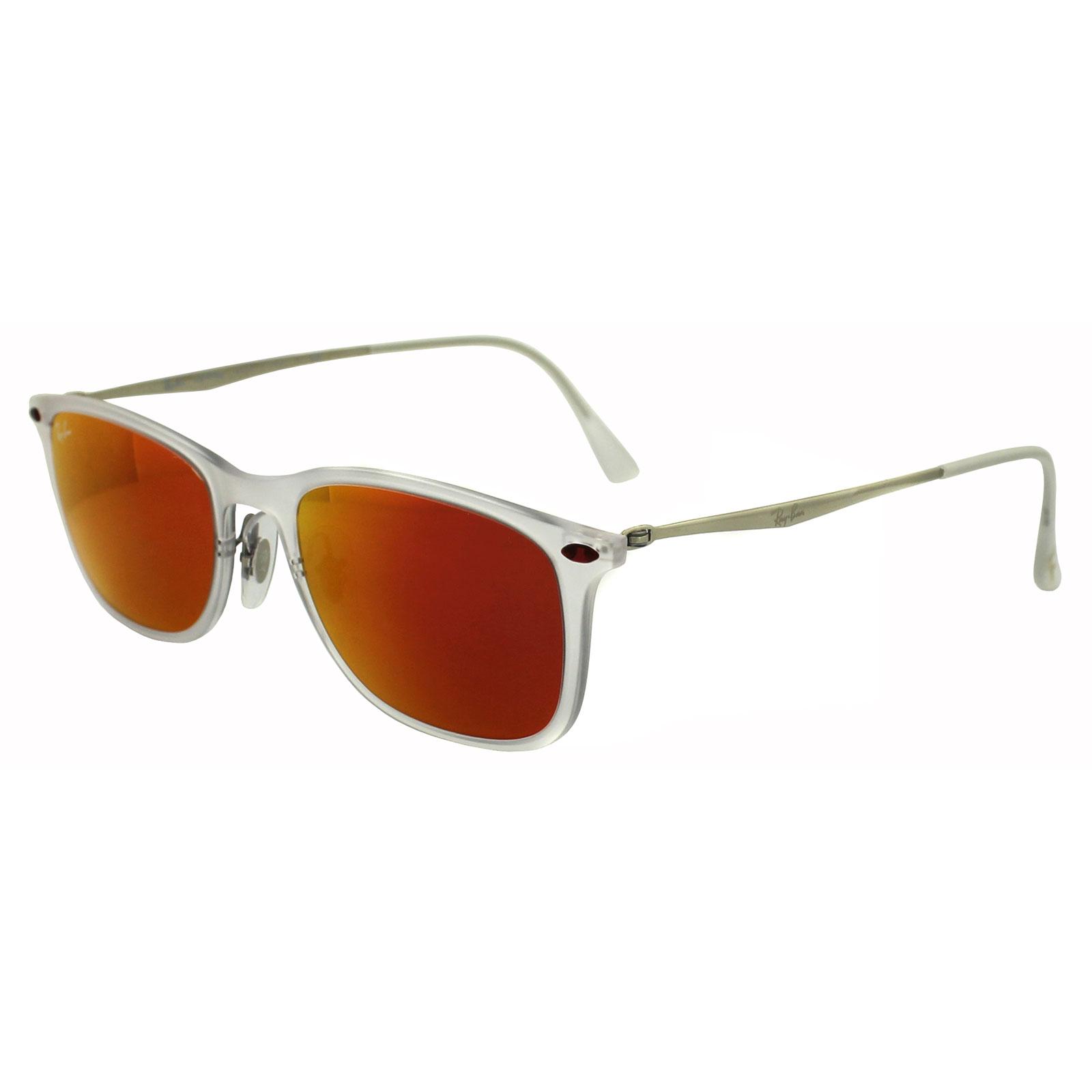 red ray ban sunglasses  Ray-Ban Sunglasses New Wayfarer Light Ray 4225 646/6Q Transparent ...