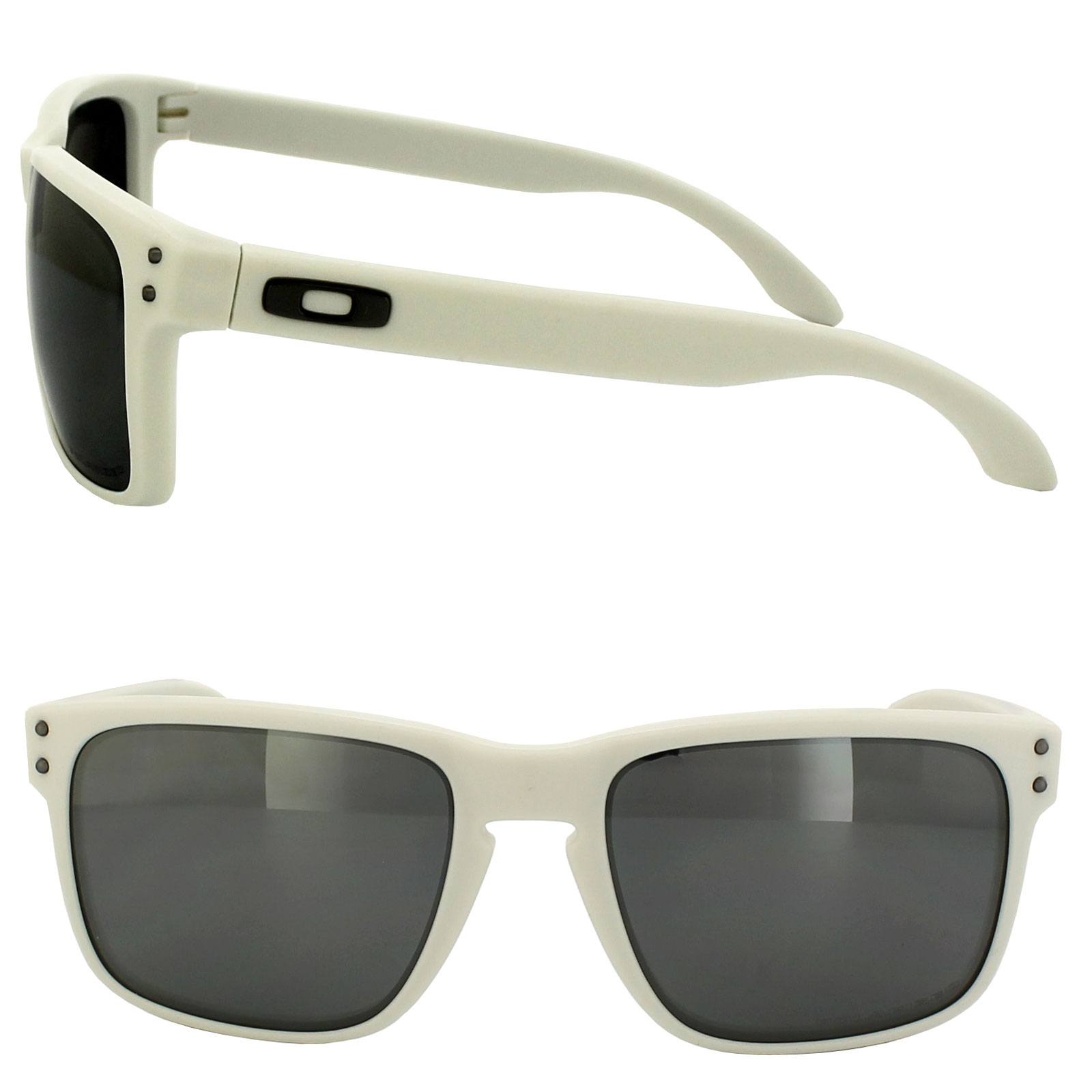 discount oakley holbrook sunglasses mop2  Oakley Sunglasses Holbrook 9102-71 Matt Cloud White Black Iridium  Polarized Thumbnail 2