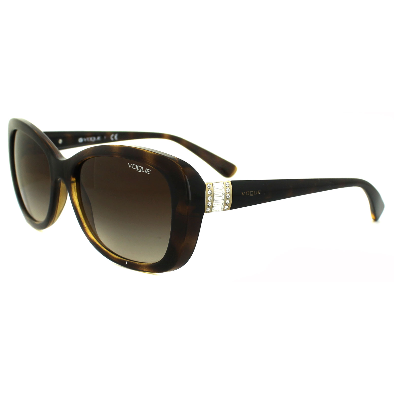 Vogue Sunglasses 2943sb W65613 Dark Havana Brown Gradient