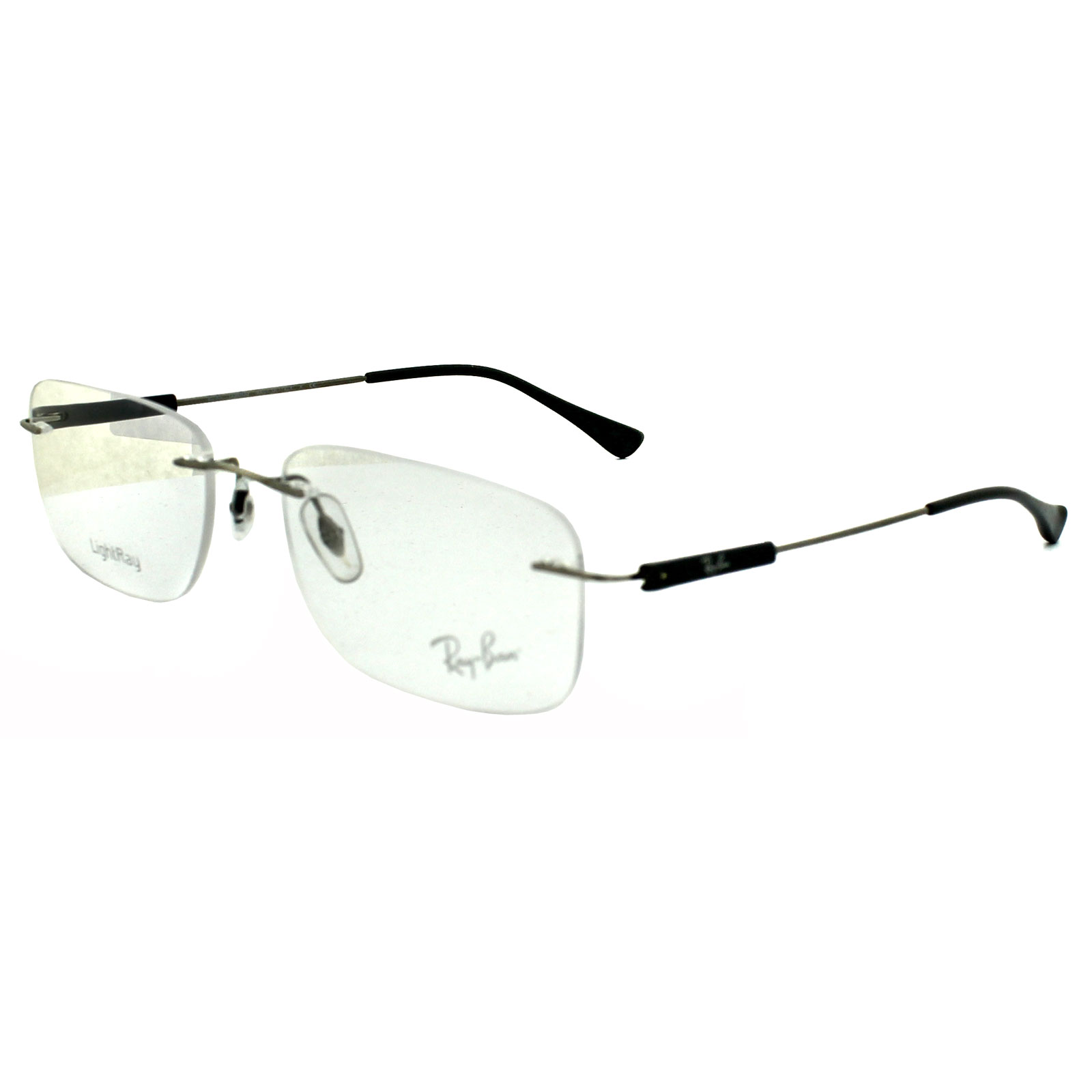Ray Ban Silver Frame Glasses : Ray-Ban Glasses Frames 8712 1127 Silver Grey eBay