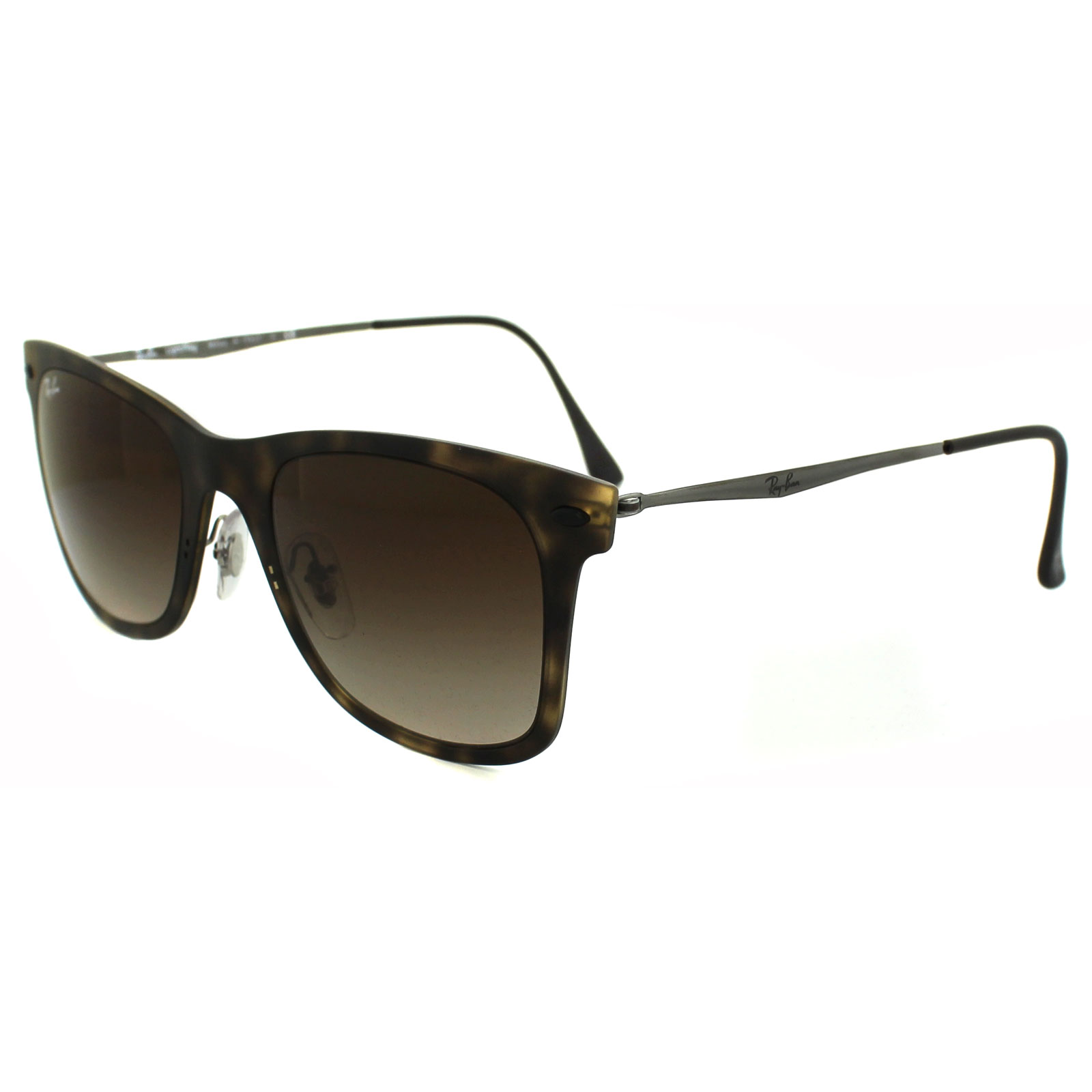 Ray ban sunglasses gradient - Sentinel Ray Ban Sunglasses Wayfarer Light Ray 4210 894 13 Tortoise Brown Gradient