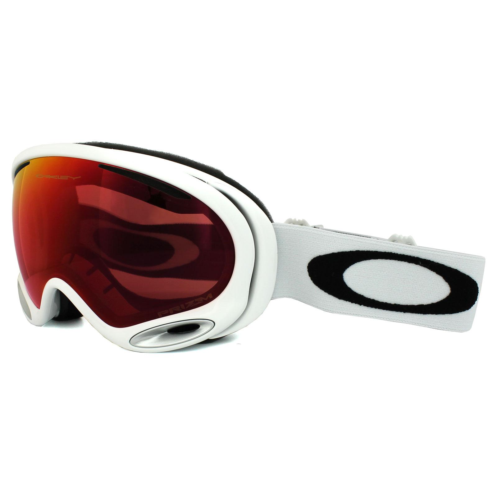 oakley ski goggles a frame  Oakley Ski Snow Goggles A Frame 2.0 OO7044-50 Polished White Prizm ...