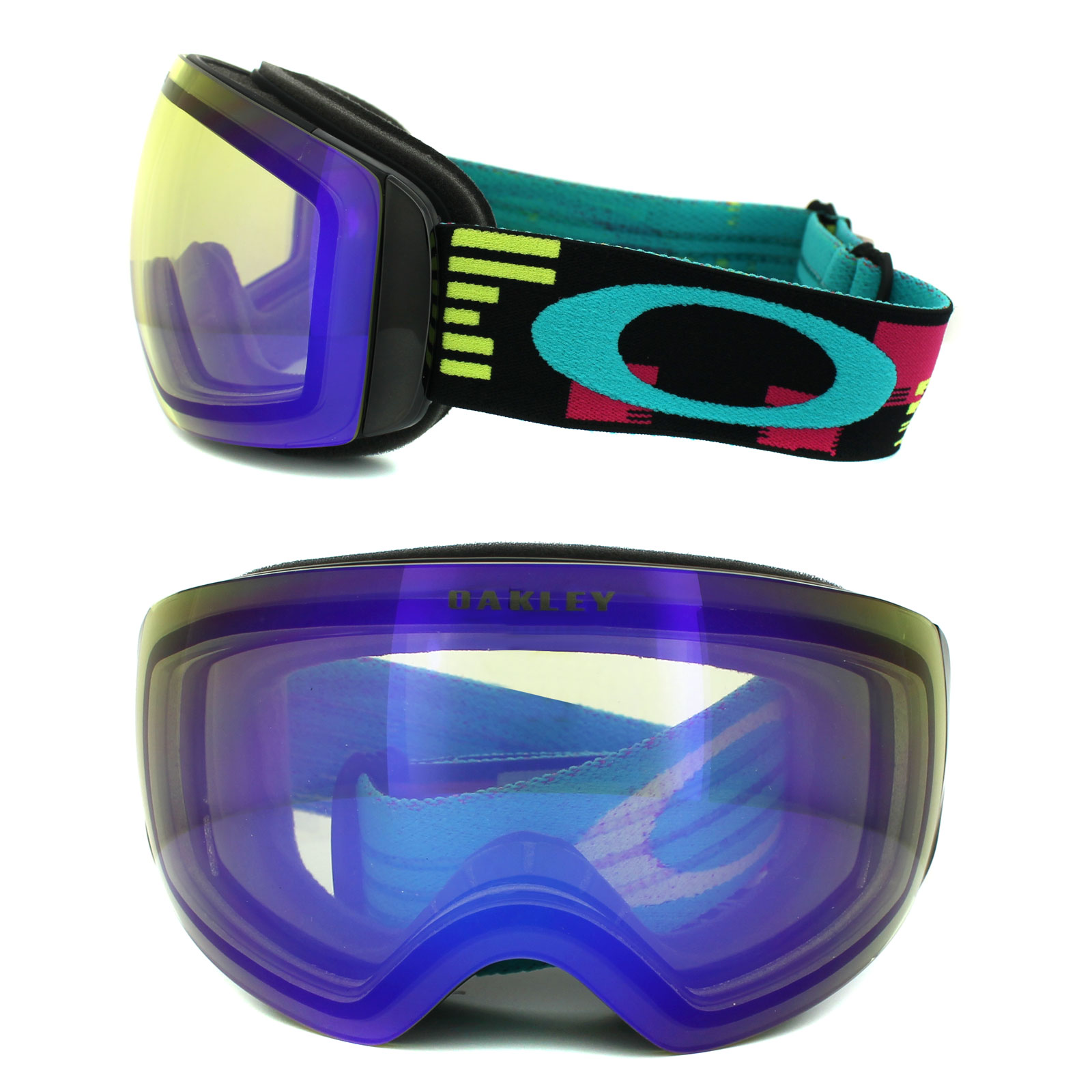 oakley flight deck snow goggles 62dk  Sentinel Oakley Ski Snow Goggles Flight Deck XM OO7064-05 Disruptive Neon  HI Yellow