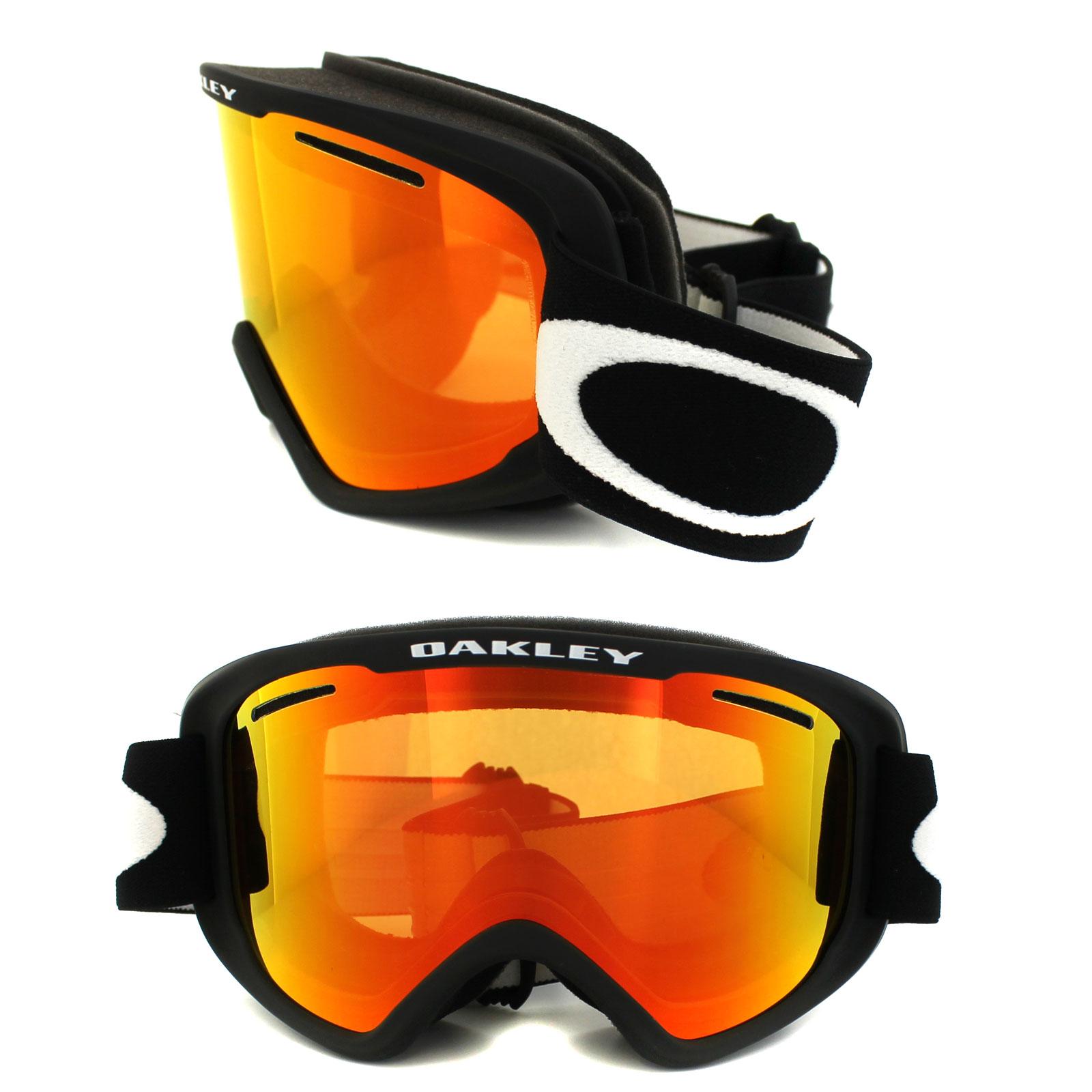 oakley snow glasses fr1q  Sentinel Oakley Ski Snow Goggles 02 XM OO7066-01 Matt Black Fire Iridium