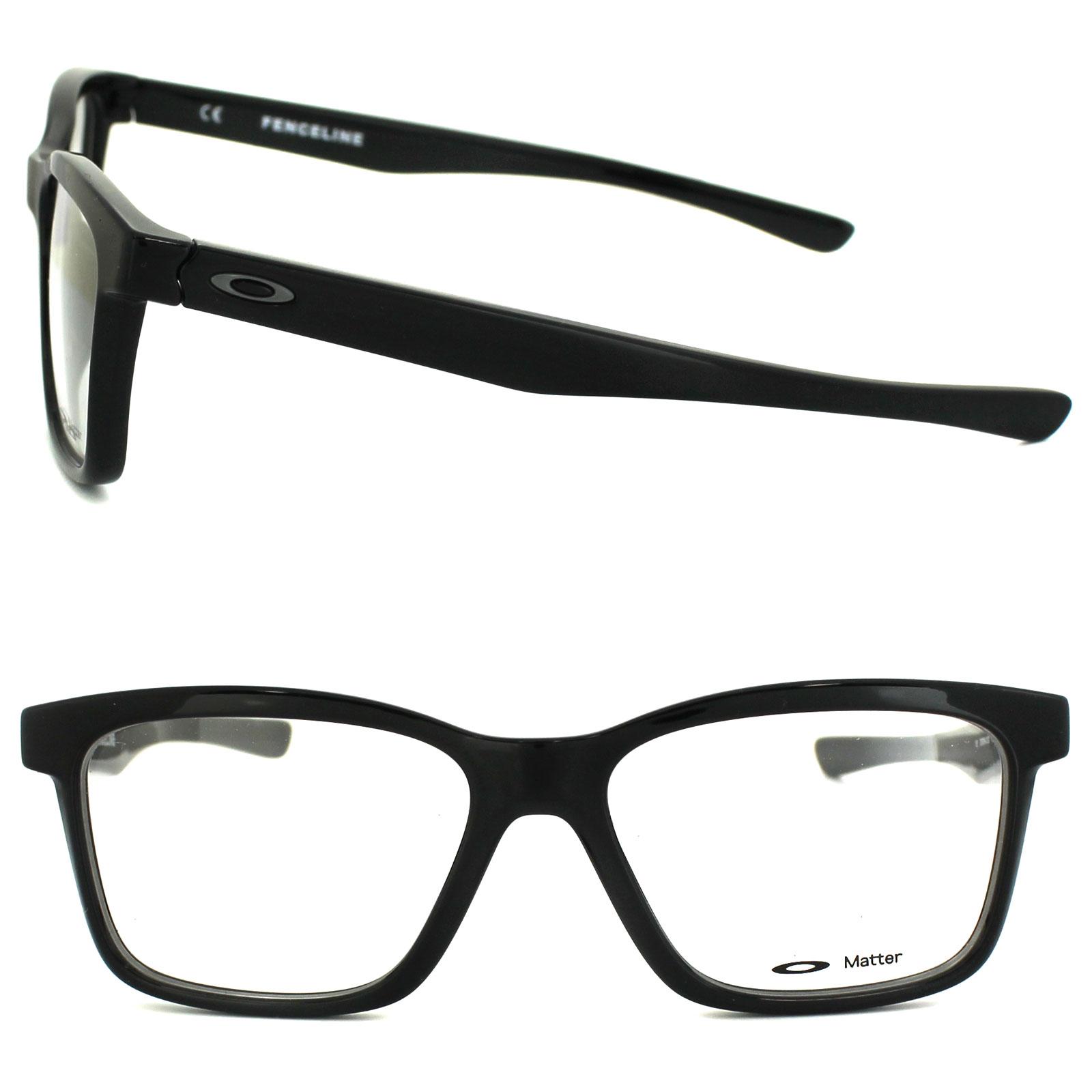 Eyeglasses Frame Polish : Oakley Glasses Frames Fenceline OX8069-01 Polished Black