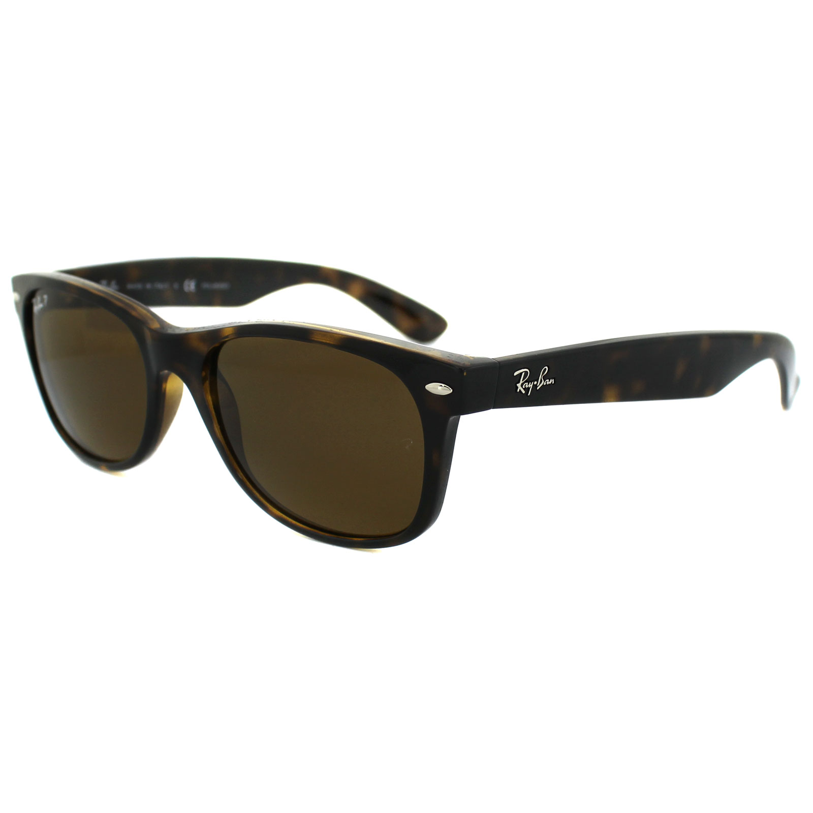 ray ban sunglasses new wayfarer 2132 902 57 tortoise brown polarized 55mm ebay. Black Bedroom Furniture Sets. Home Design Ideas