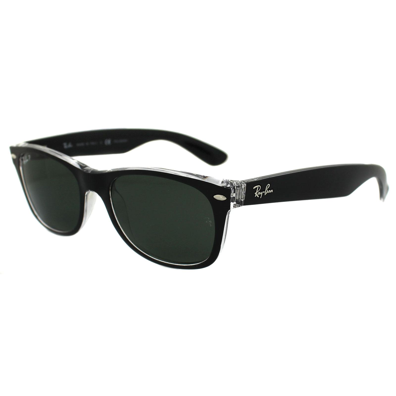ray ban sonnenbrille new wayfarer 2132 605258 black. Black Bedroom Furniture Sets. Home Design Ideas