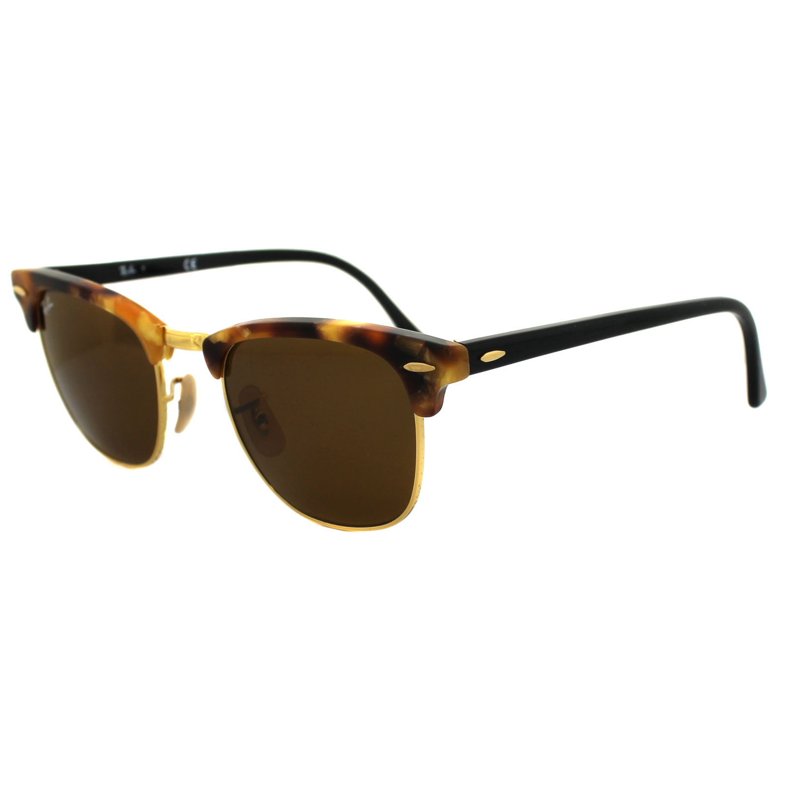 f17087c69f2 Ray-Ban Sunglasses Clubmaster 3016 1160 Fleck Tortoise   Black Brown