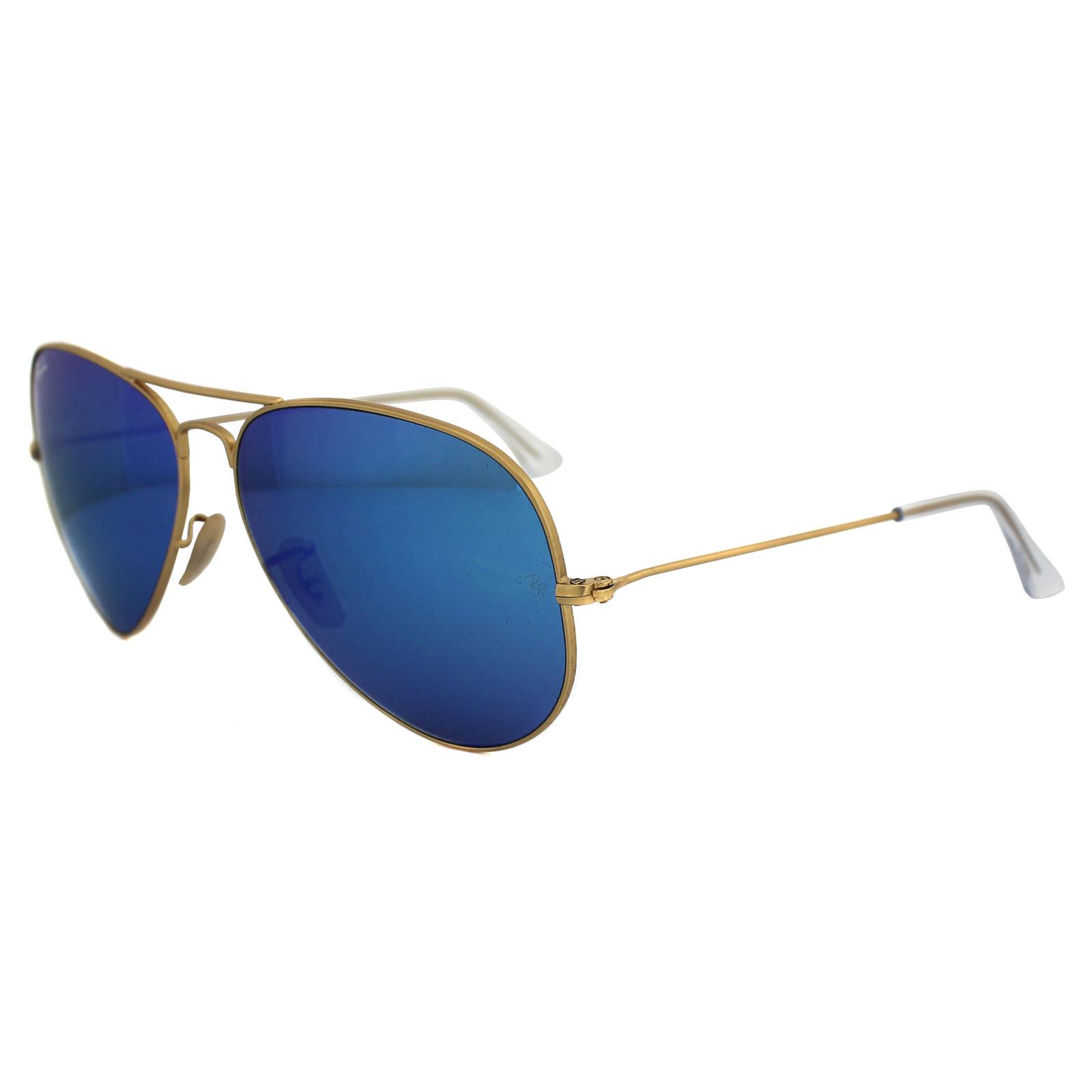 ray ban sunglasses aviator 3025 112 17 matt gold blue. Black Bedroom Furniture Sets. Home Design Ideas