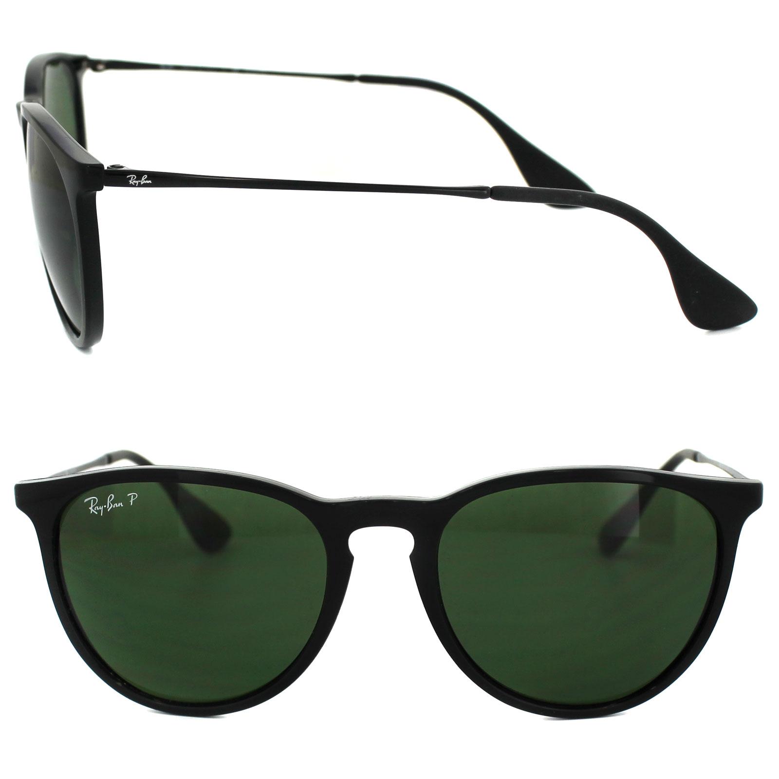 ray ban sunglasses erika 4171 601 2p black green polarized ebay. Black Bedroom Furniture Sets. Home Design Ideas