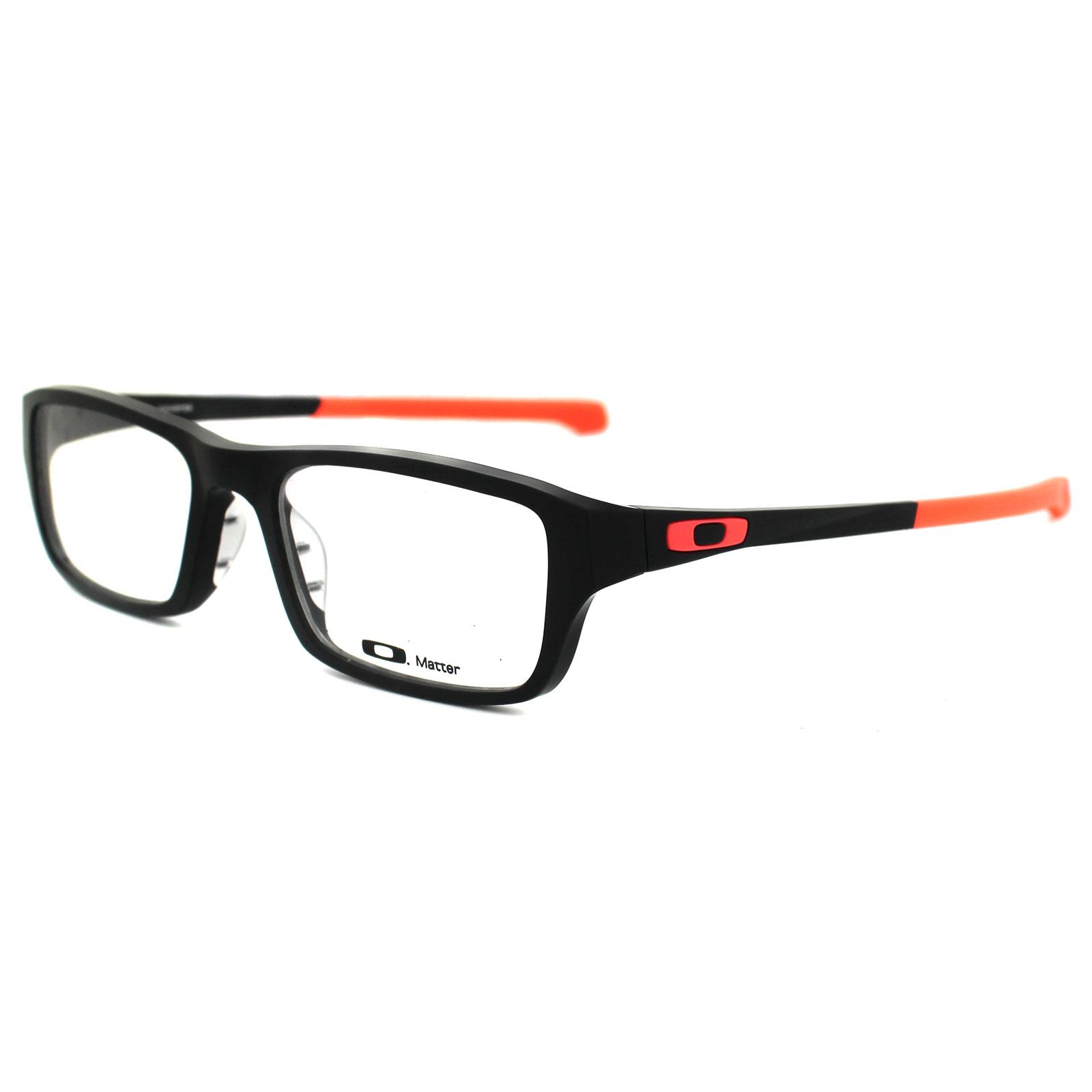 Oakley Red Frame Glasses : Oakley Glasses Frames Chamfer 8039 OX8039-07 Matt Black ...