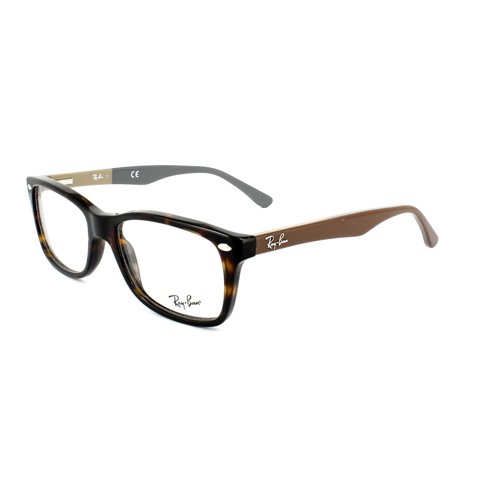 ray ban glasses frames 5228 5545 havana brown on beige. Black Bedroom Furniture Sets. Home Design Ideas