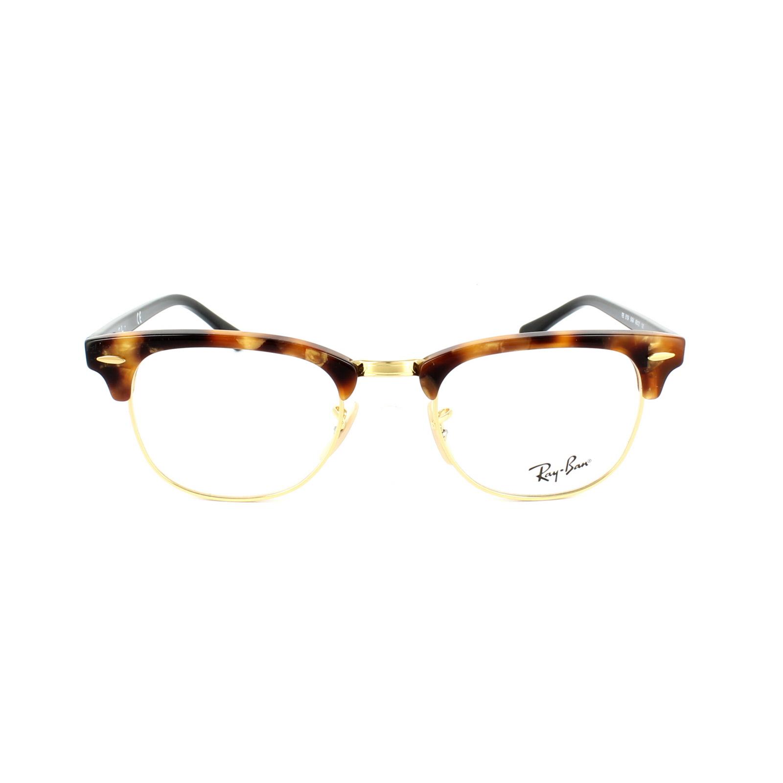 Ray-Ban Glasses Frames 5154 Clubmaster 5494 Fleck Brown Havana