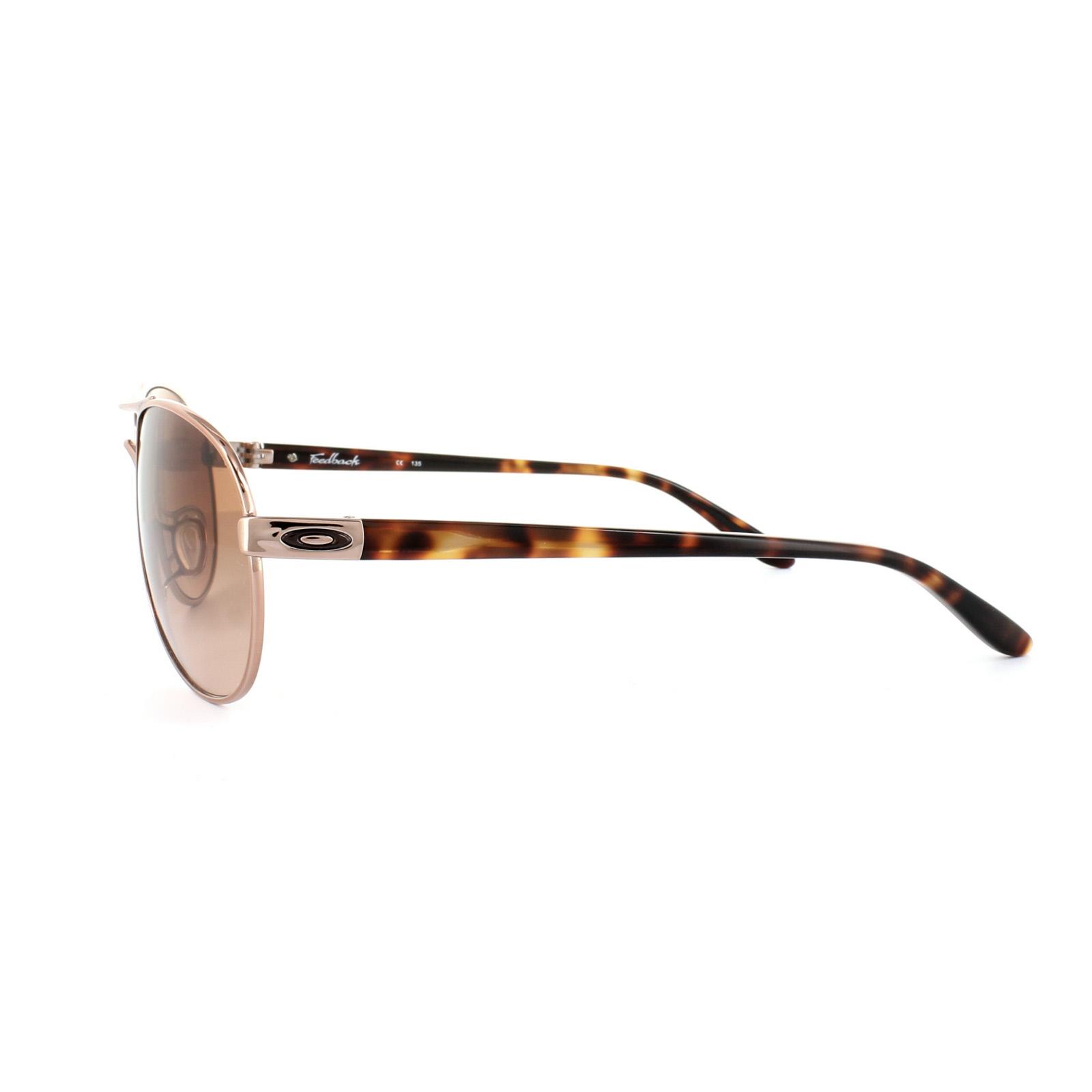 2dc9cc239ab Oakley Feedback Sunglasses - Rose Gold vr50 Brown Gradient