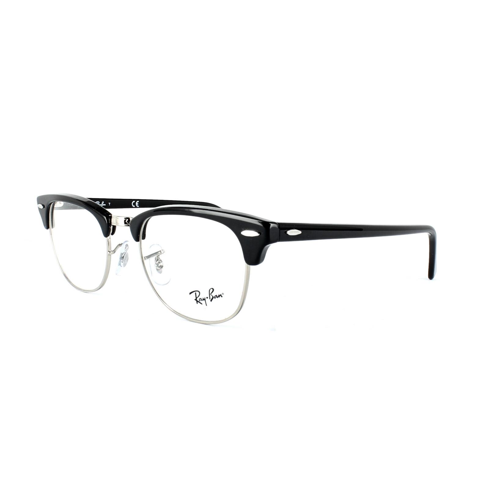 ray ban brillengestell 5154 clubmaster 2000 shiny black ebay. Black Bedroom Furniture Sets. Home Design Ideas