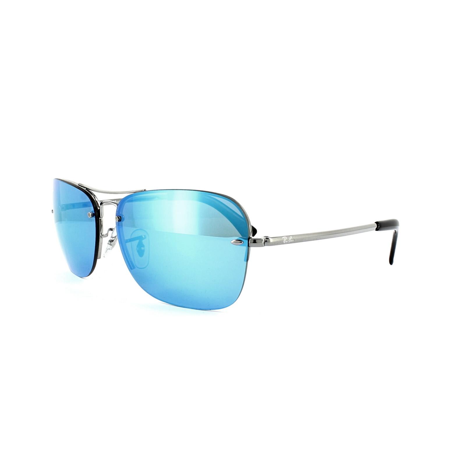 ray ban sonnenbrille 3541 004 55 ruthenium blau spiegel. Black Bedroom Furniture Sets. Home Design Ideas