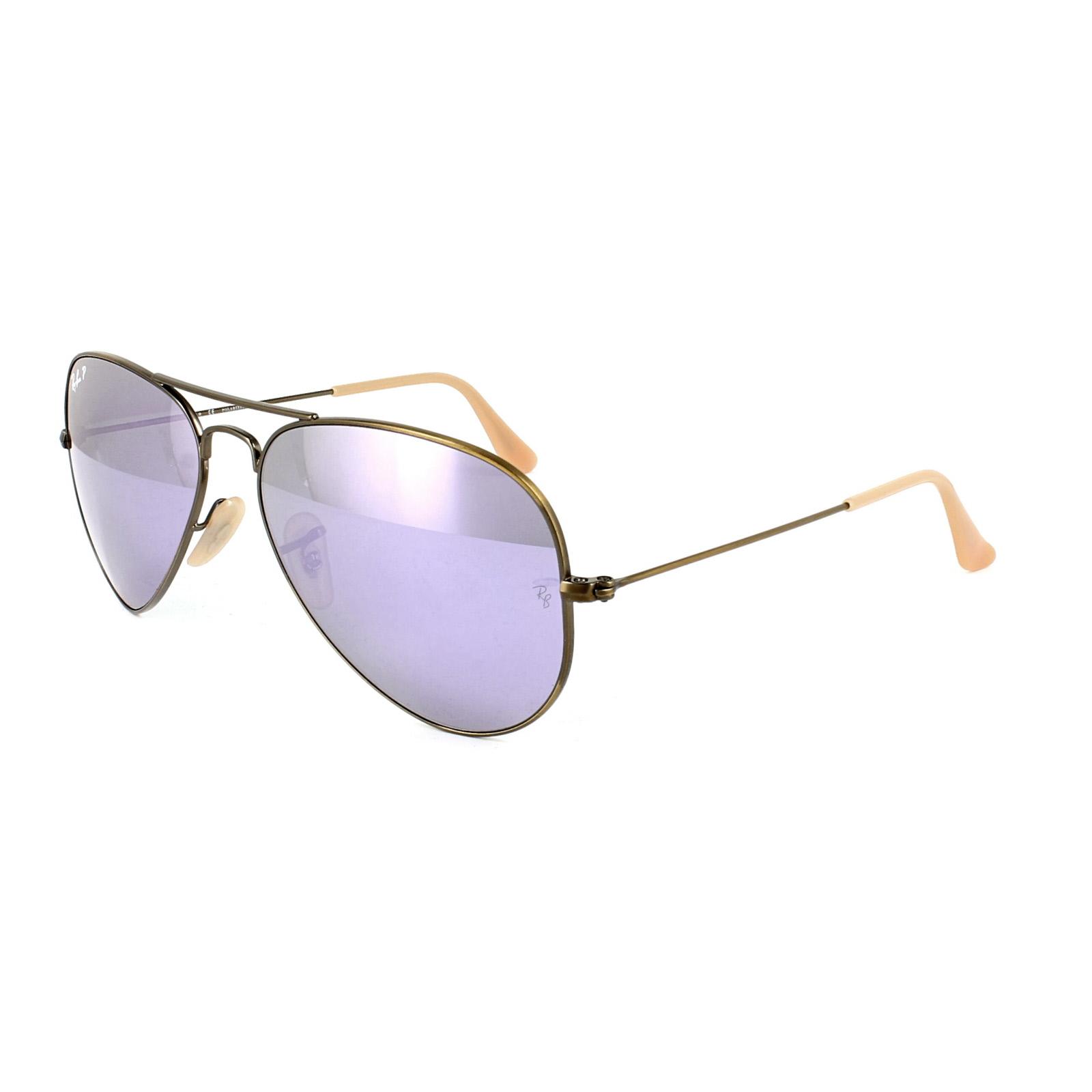 Ray ban occhiali da sole aviator 3025 167 1r bronzo rame - Specchio polarizzato ...