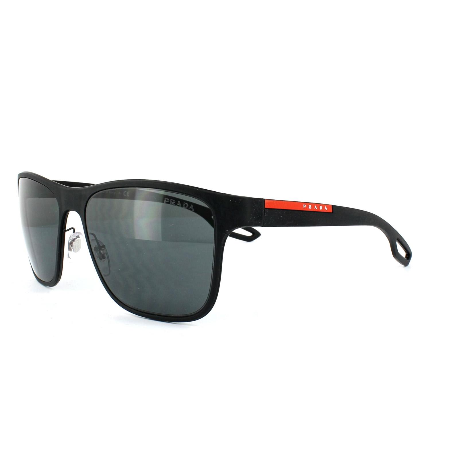 prada sport sonnenbrille 56qs dg01a1 black rubber dark. Black Bedroom Furniture Sets. Home Design Ideas