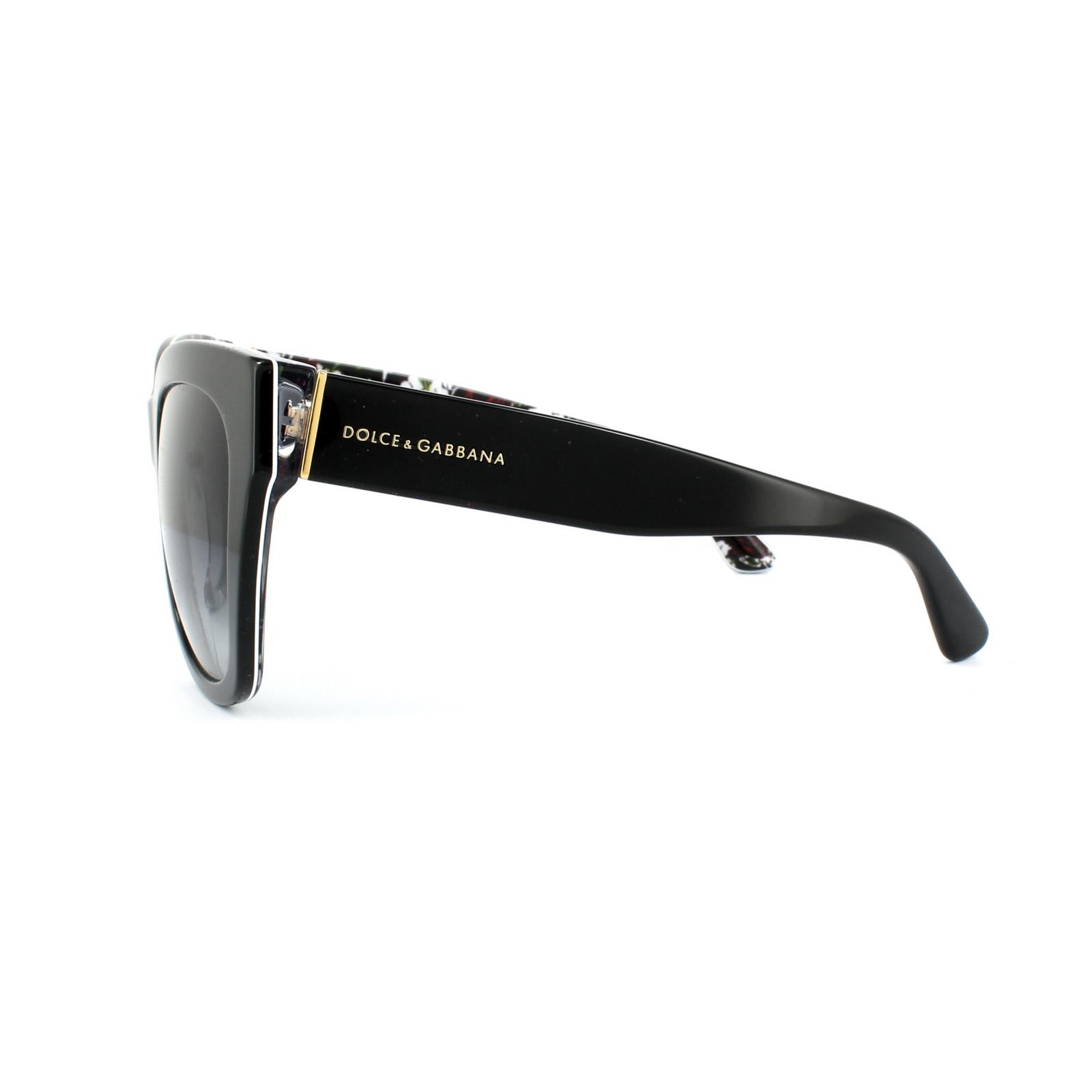 Dolce Gabbana Sunglasses Black  dolce gabbana sunglasses 4270 3021 8g black roses grey grant