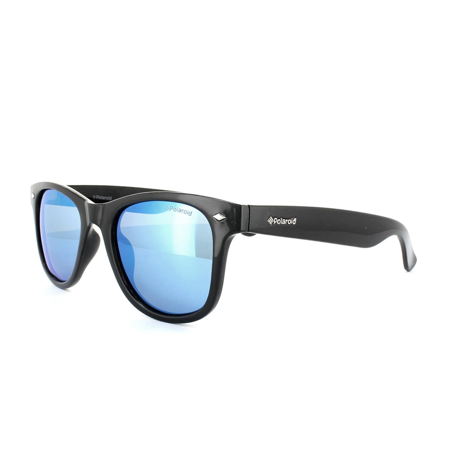 Polaroid Sunglasses 6009/S M D28 JY Black Blue Mirror ...