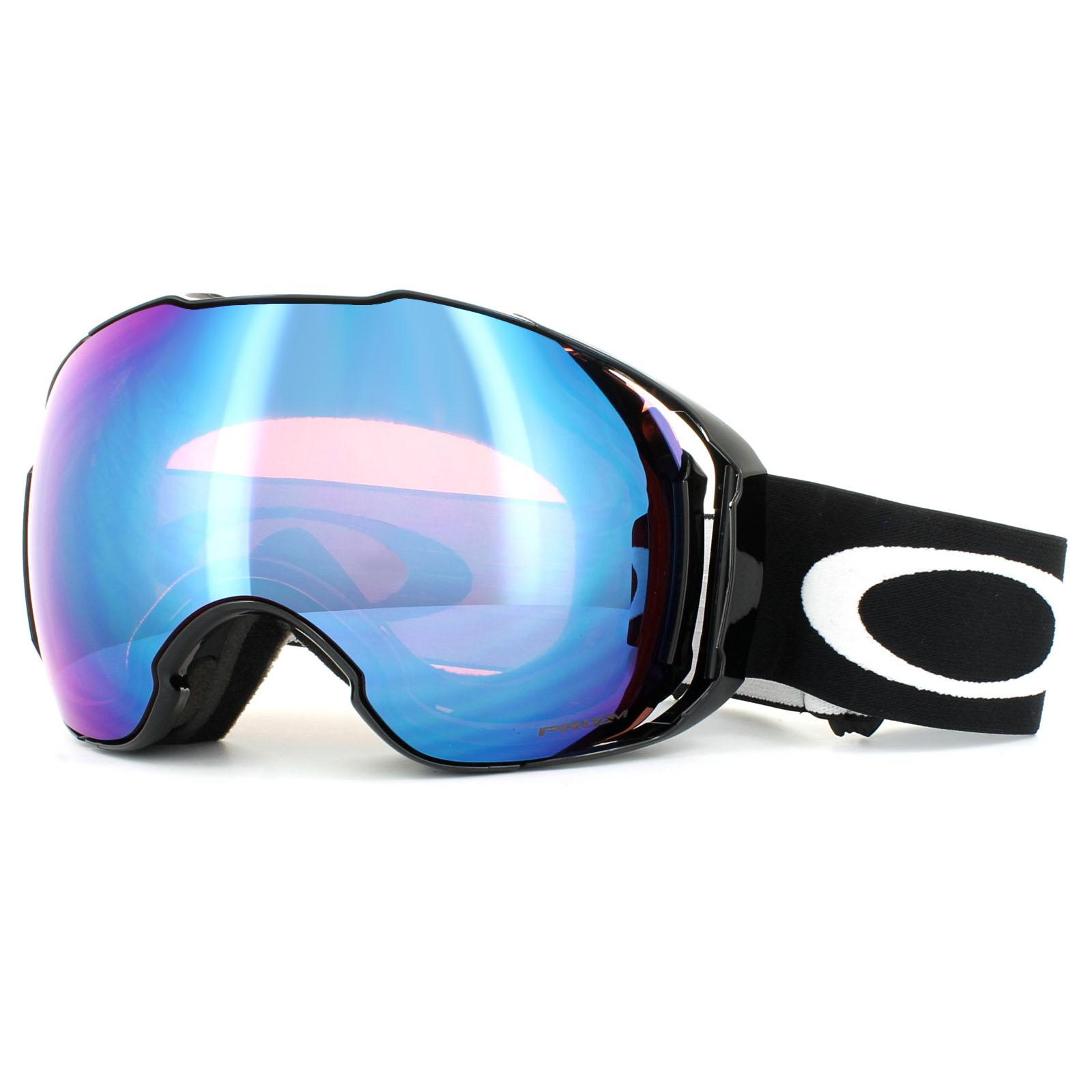 oakley ski goggles airbrake  Oakley Ski Goggles Airbrake XL OO7071-04 Black Prizm Sapphire \u0026amp ...