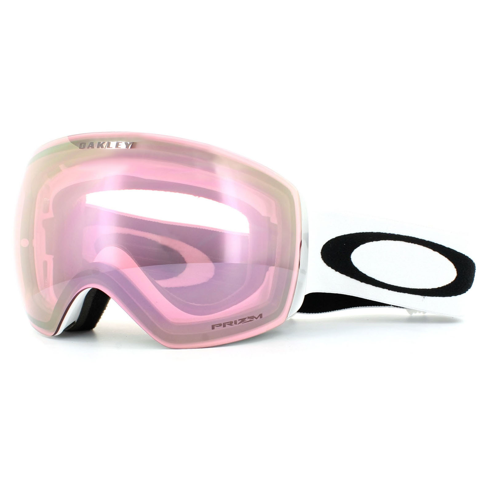 flight deck ski goggles  Oakley Ski Goggles Flight Deck OO7050-38 Matt White Prizm HI Pink ...