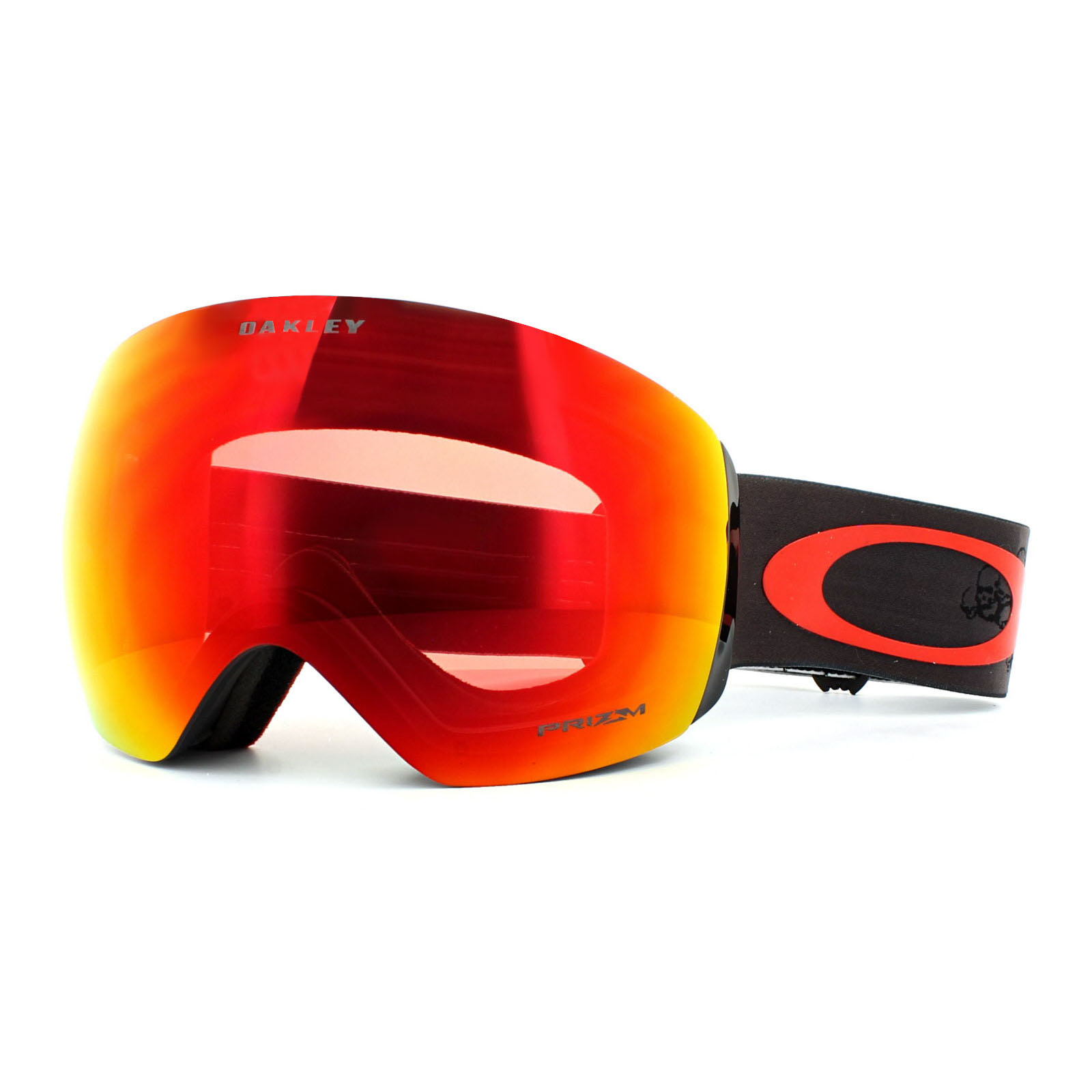 oakley goggles flight deck 02cs  Oakley Ski Goggles Flight Deck OO7050-46 SM Valley Of Death Prizm Torch  Iridium
