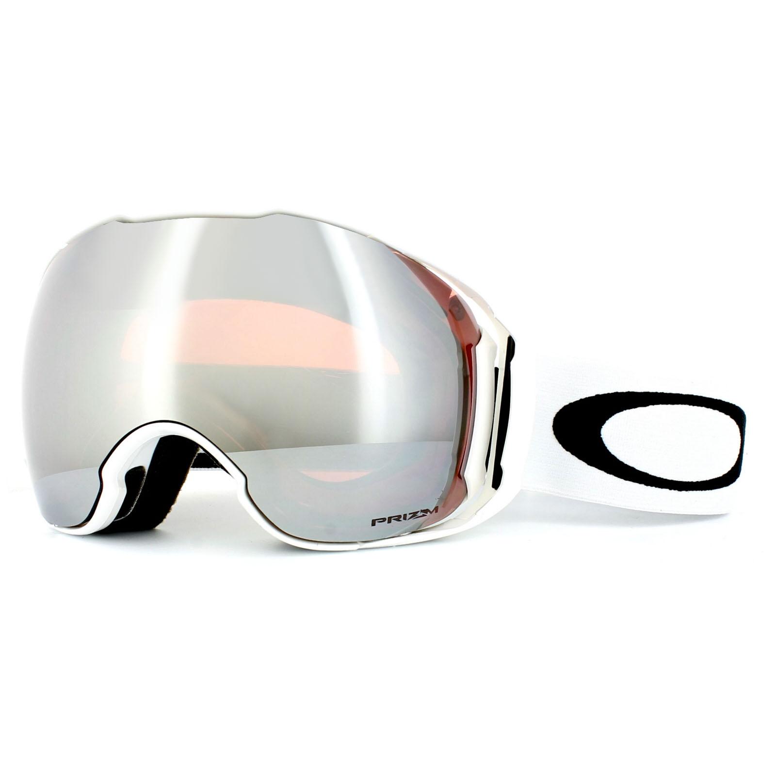 white oakley ski goggles atru  Sentinel Oakley Ski Goggles Airbrake XL OO7071-12 White Prizm Black & Prizm  HI Pink