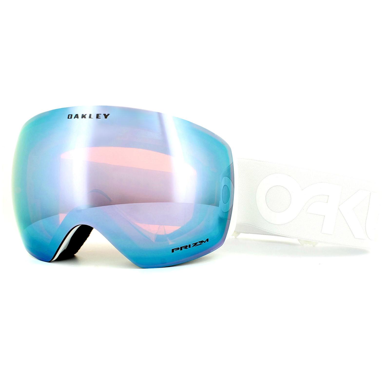 oakley pilot goggles  Oakley Ski Goggles Flight Deck OO7050-37 Factory Whiteout Prizm ...