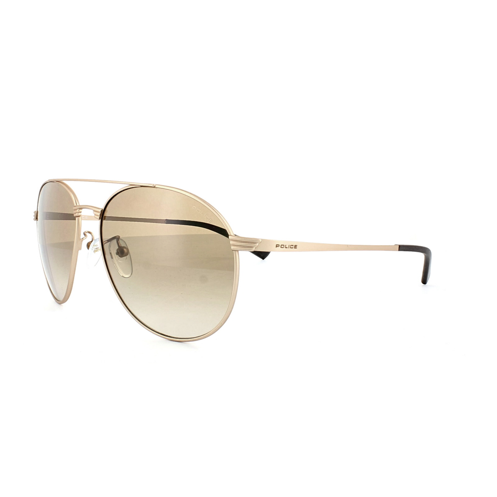 Gold Frame Police Sunglasses : Police Sunglasses S8953 Rival 2 648X Polished Rose Gold ...