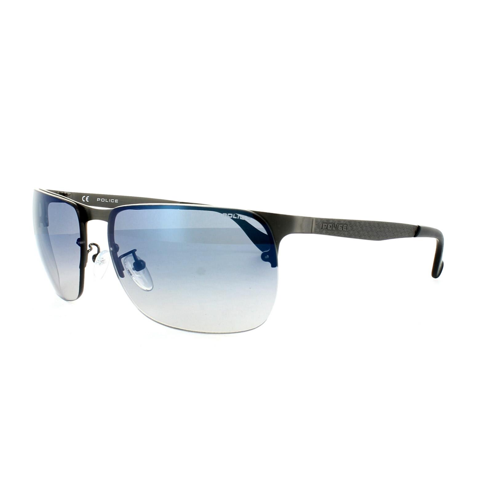 4e3a6f1a14 Police Sunglasses S8957 Defense 2 627B Gunmetal Gradient