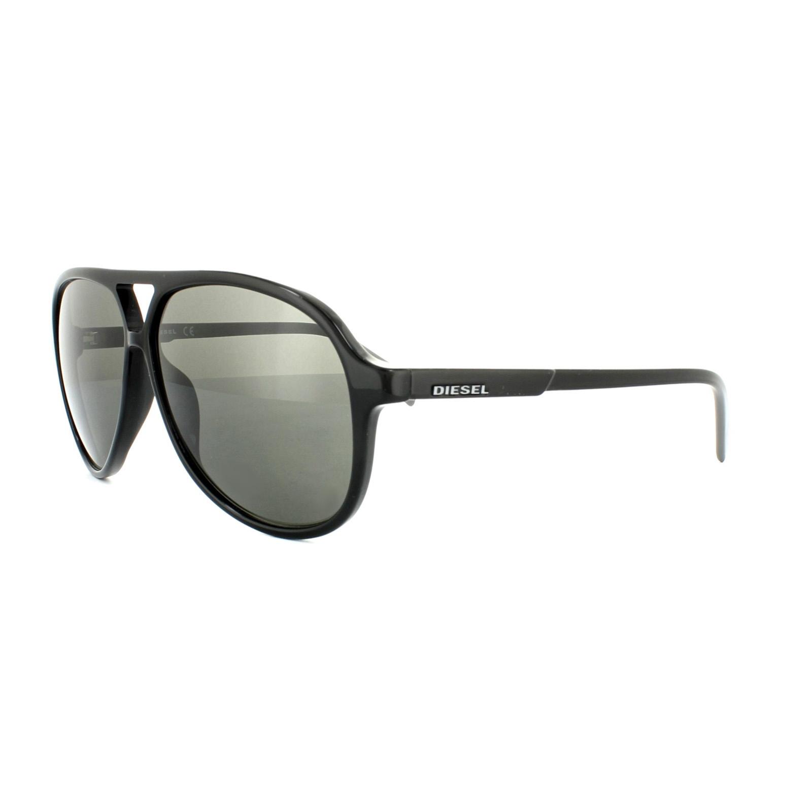 diesel lunettes de soleil dl0156 01q noir brillant vert miroir ebay. Black Bedroom Furniture Sets. Home Design Ideas
