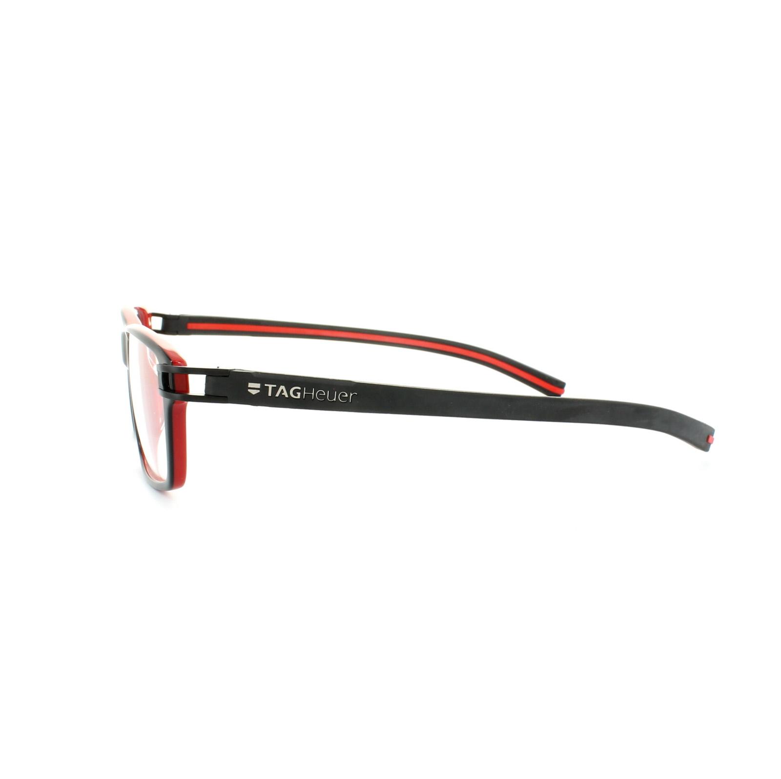 Tag heuer eyeglasses frames uk - Sentinel Tag Heuer Glasses Frames Track S 7601 001 Black Red
