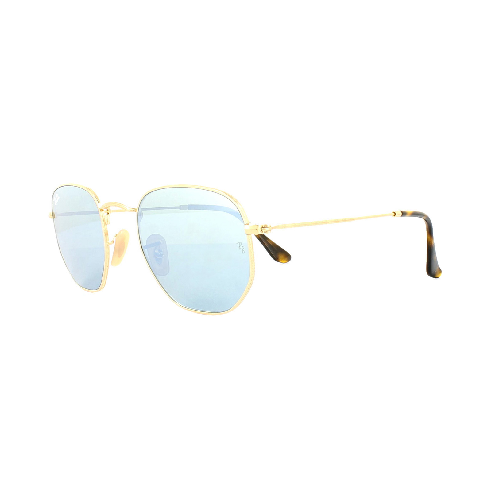 Ray ban gafas de sol hexagonal 3548n 001 30 oro plata espejo for Gafas de sol ray ban espejo